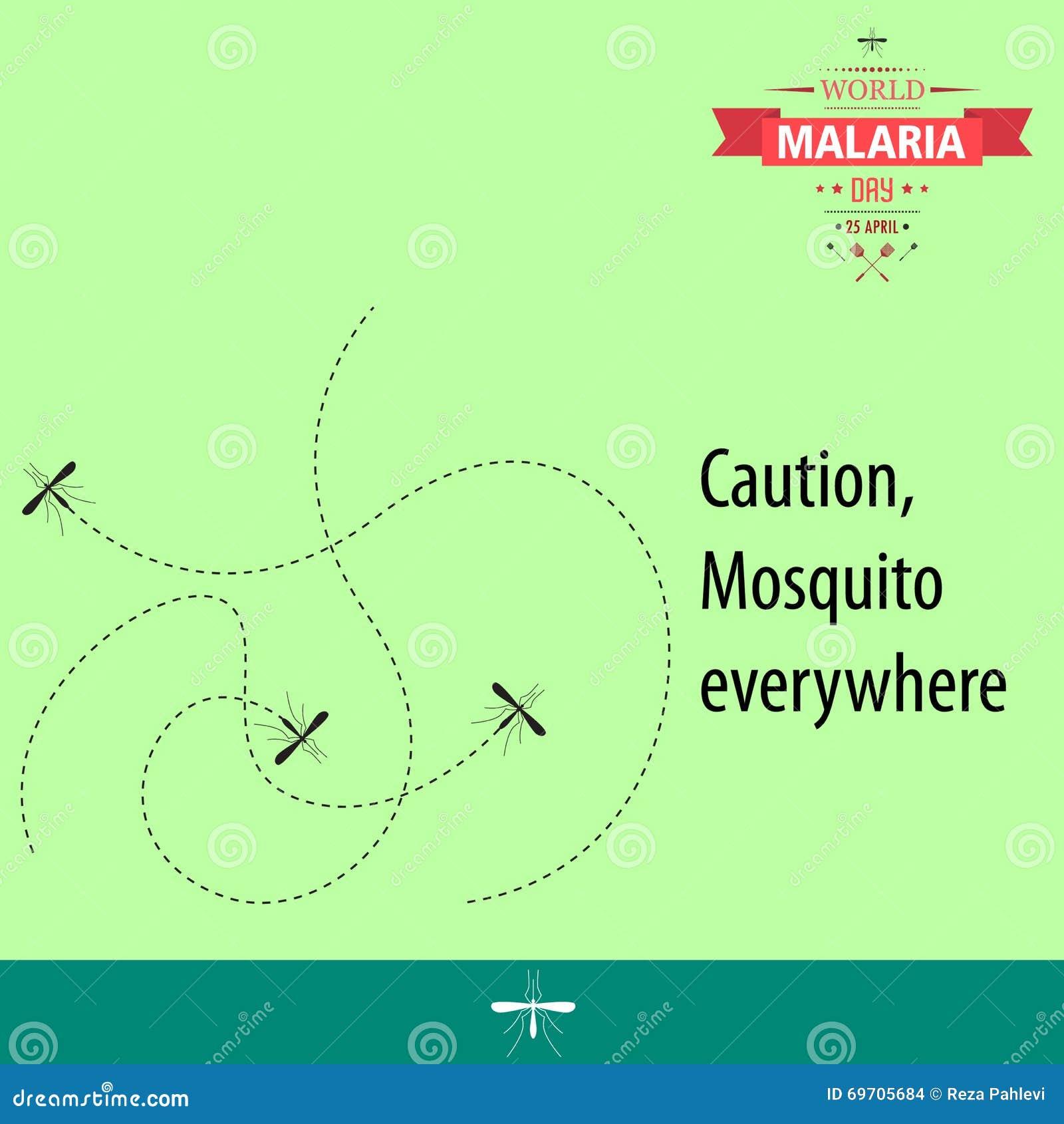 Απεικόνιση 02 σχεδίου κινούμενων σχεδίων ημέρας παγκόσμιας ελονοσίας