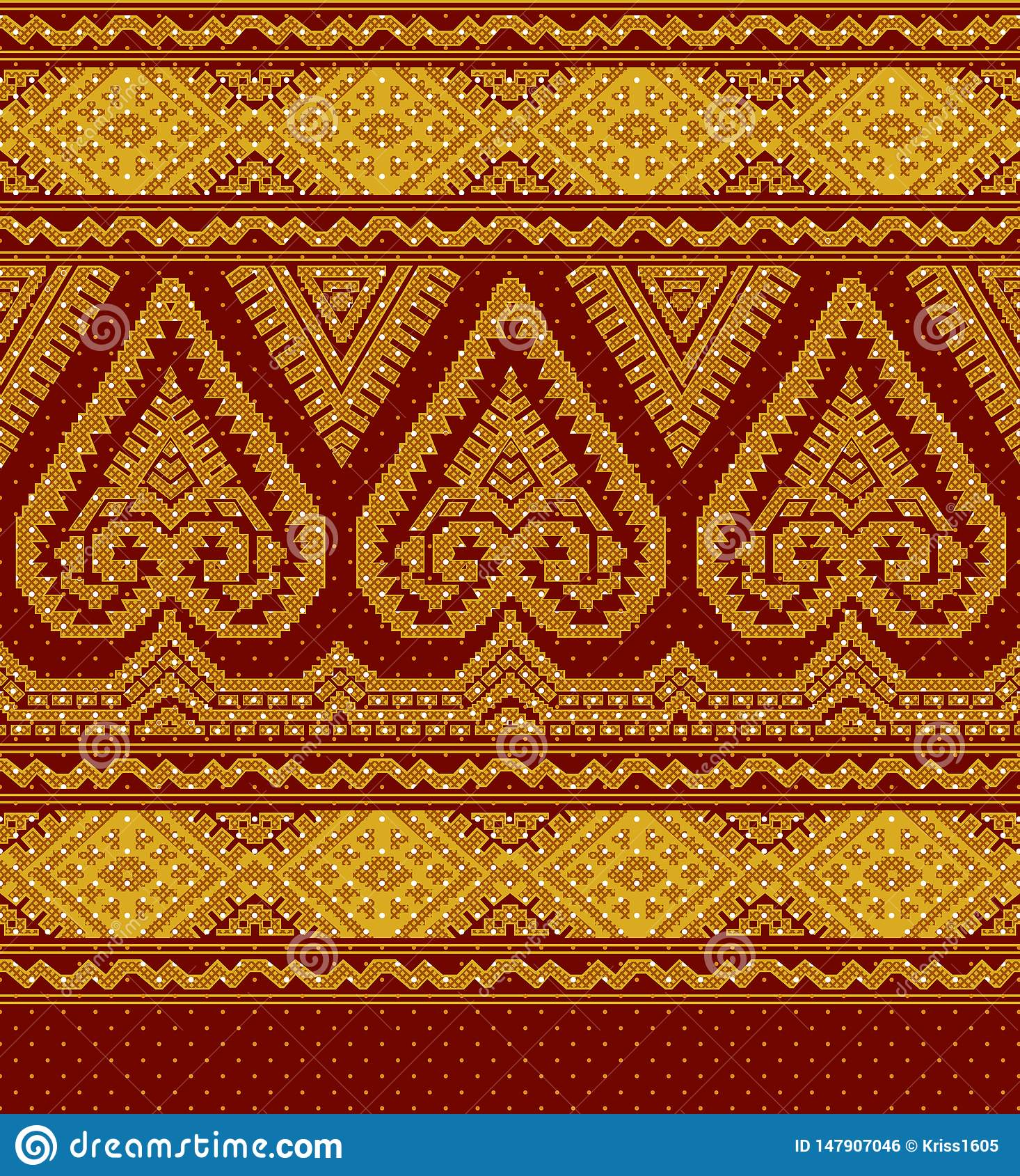 Απεικόνιση της υφαντικής εθνικής διακόσμησης
