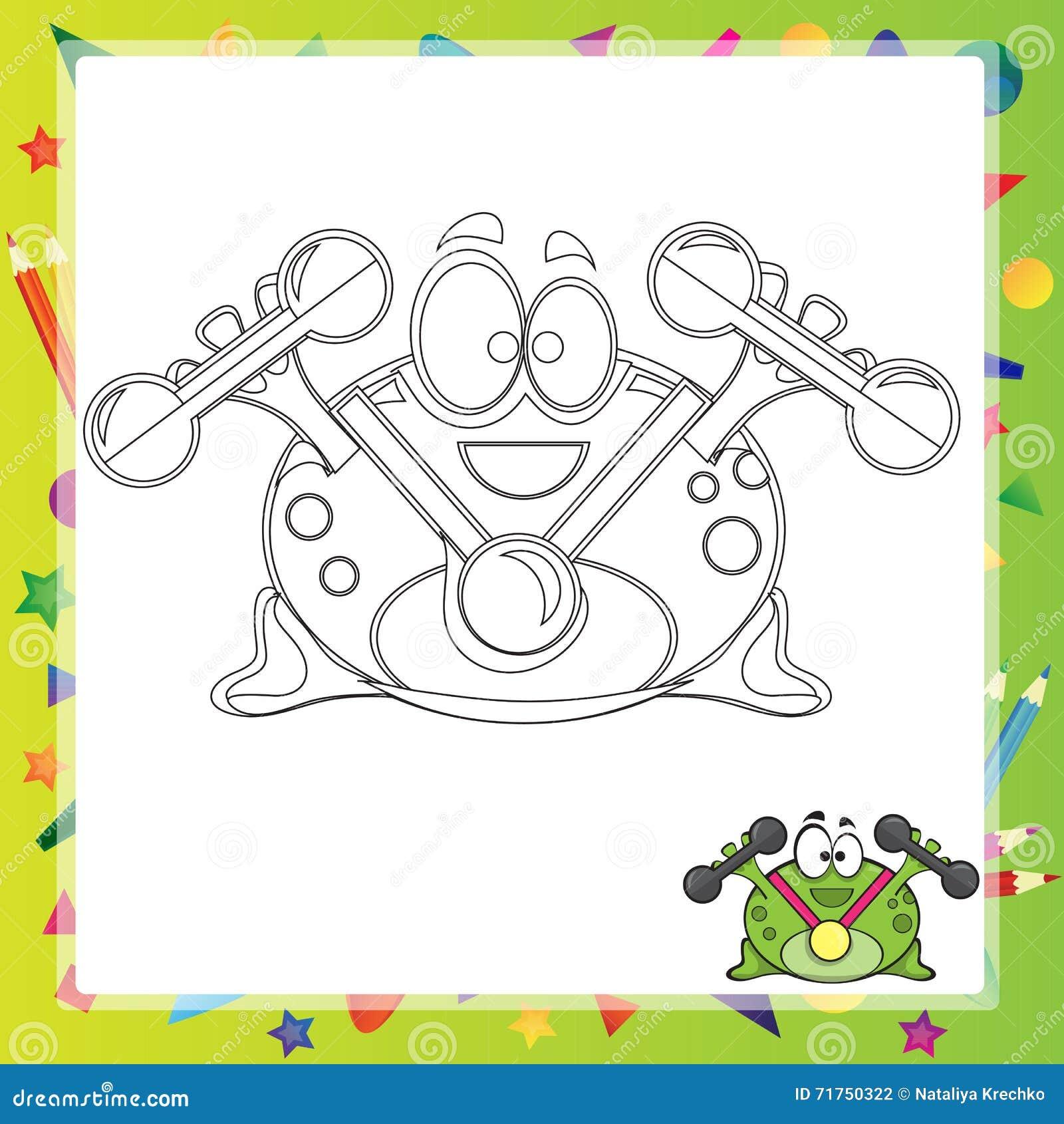 Απεικόνιση του βατράχου κινούμενων σχεδίων
