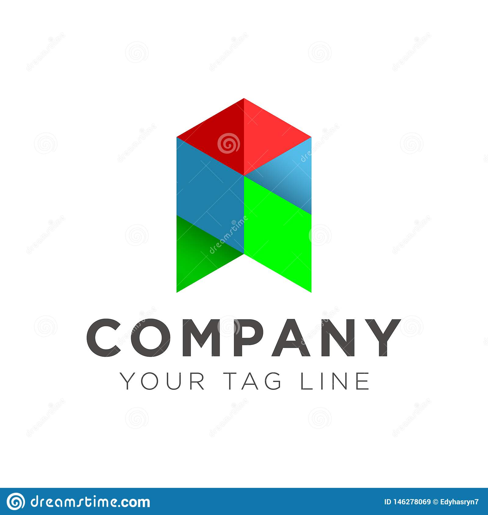 Απεικόνιση του λογότυπου βελών στο μπλε και πράσινο κόκκινο