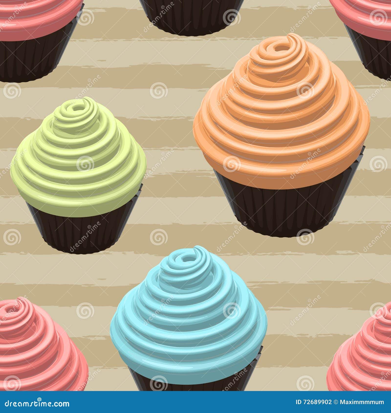 Απεικόνιση τροφίμων Cupcake