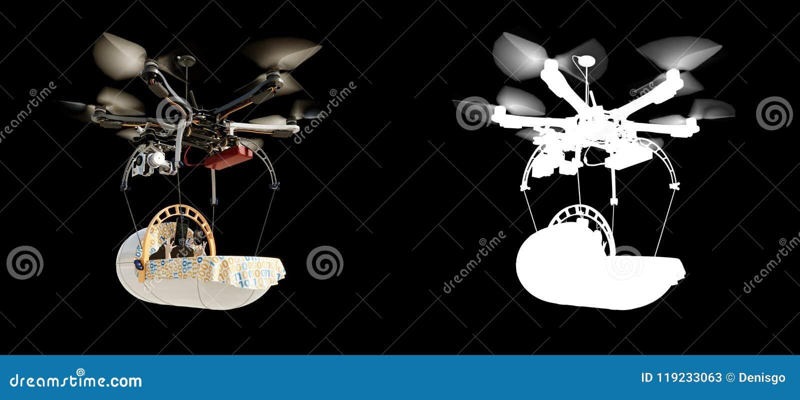 Απεικόνιση υποβάθρου έννοιας εξέλιξης τεχνολογίας μωρών πελαργών με τον άλφα