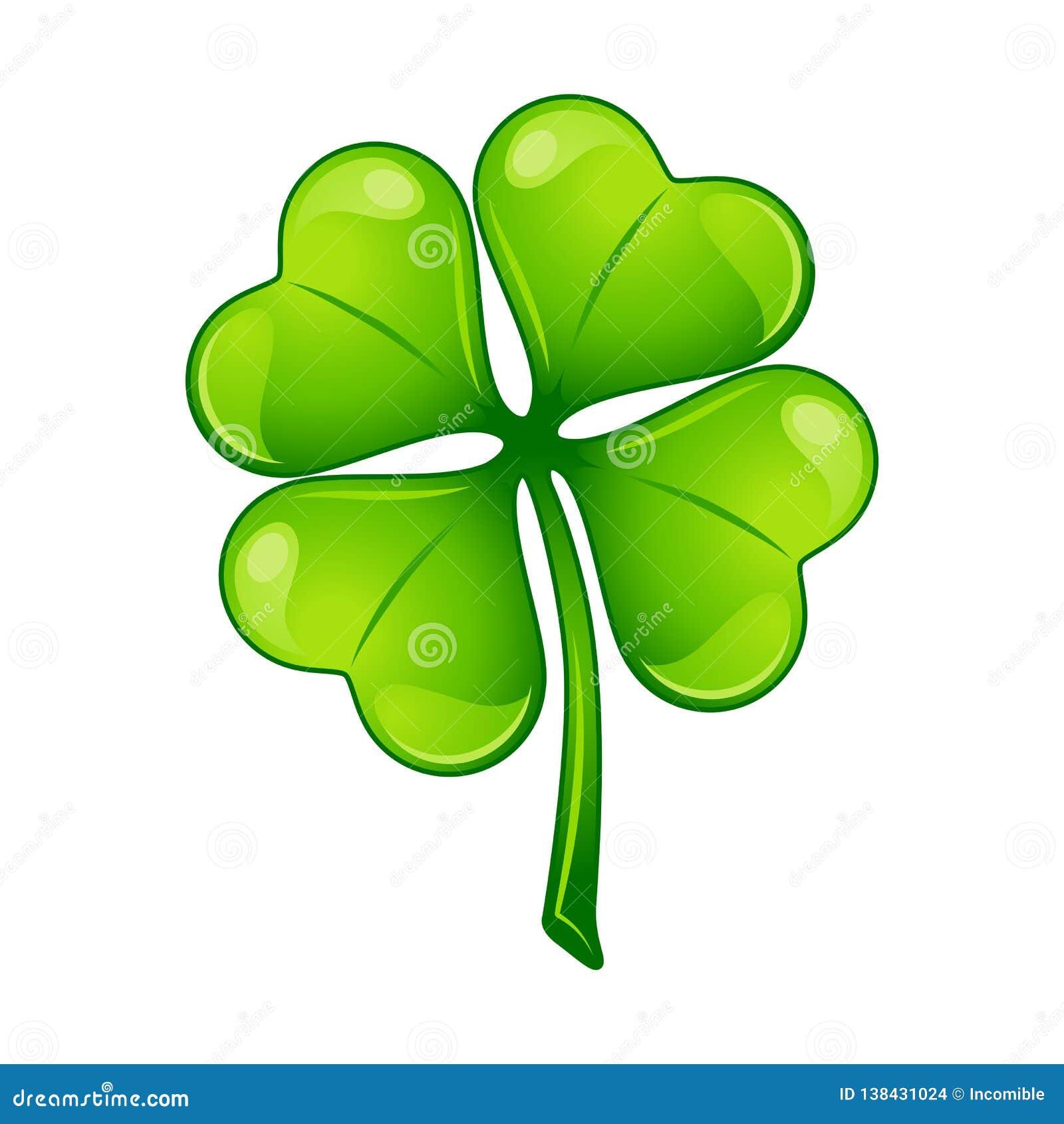 απεικόνιση patricks Άγιος ημέρας Ιρλανδικό τριφύλλι τεσσάρων φύλλων