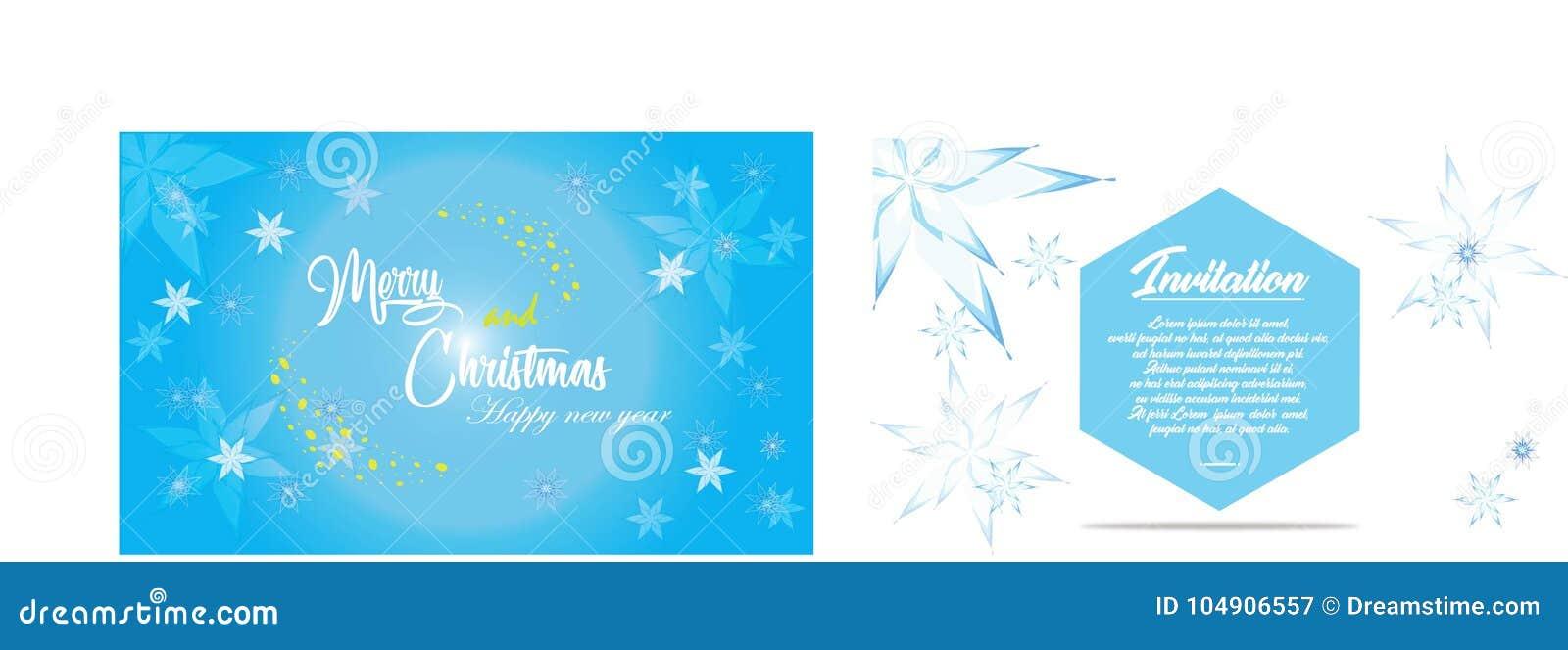 Απλή κάρτα Χριστουγέννων και πρόσκληση