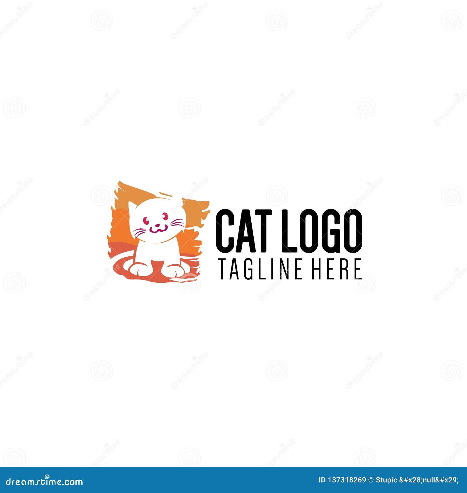 Απλή και δημιουργική συλλογή λογότυπων γατών