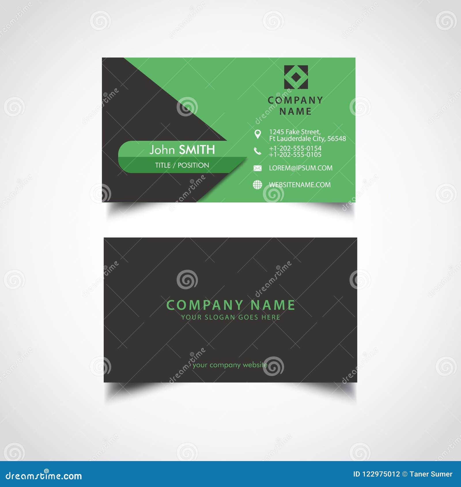 2f9e43971c50 Απλή πράσινη και σκοτεινή επαγγελματική κάρτα χρώματος Διανυσματική ...