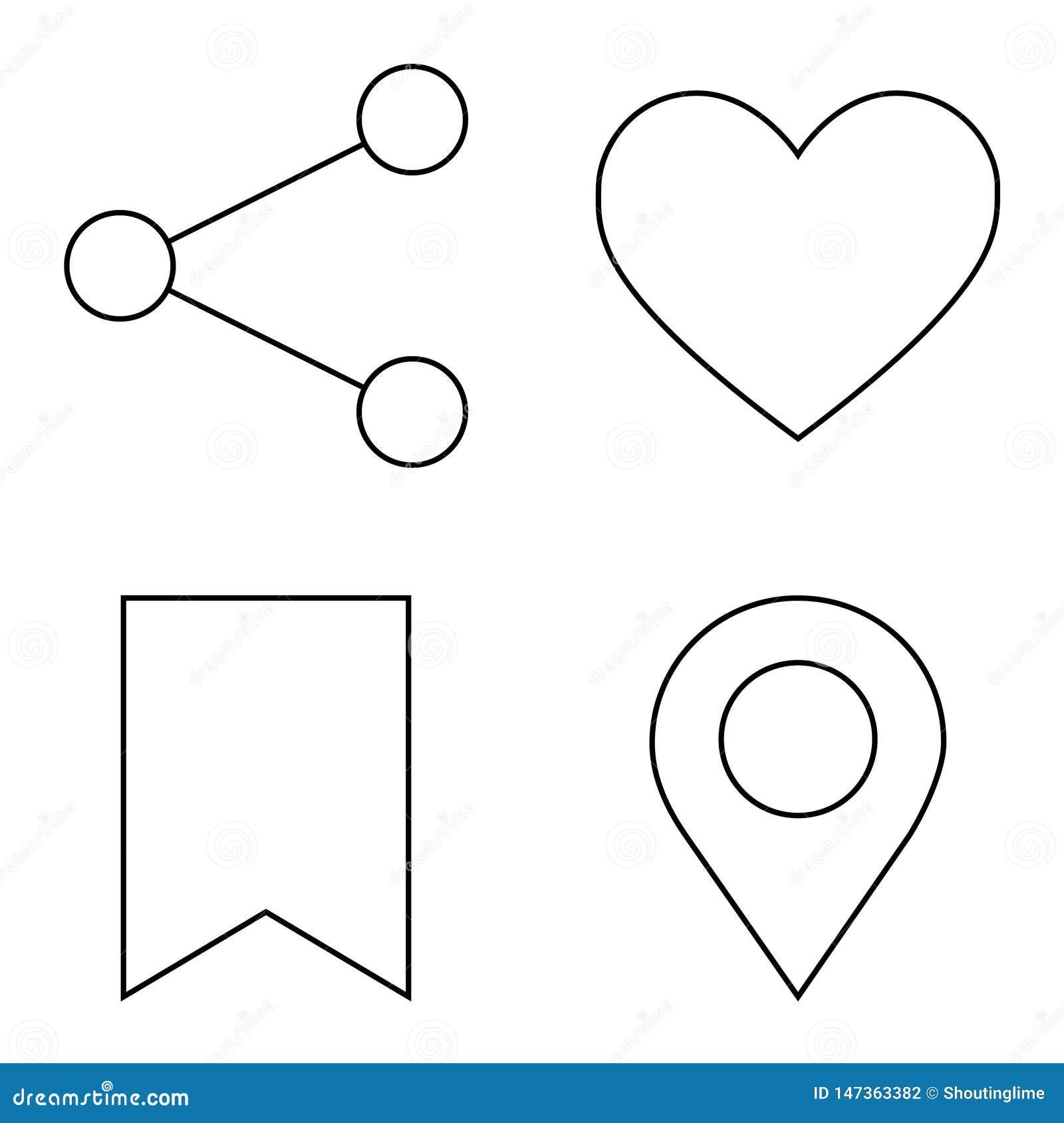 Απλό σύνολο διανυσματικών λεπτών εικονιδίων γραμμών