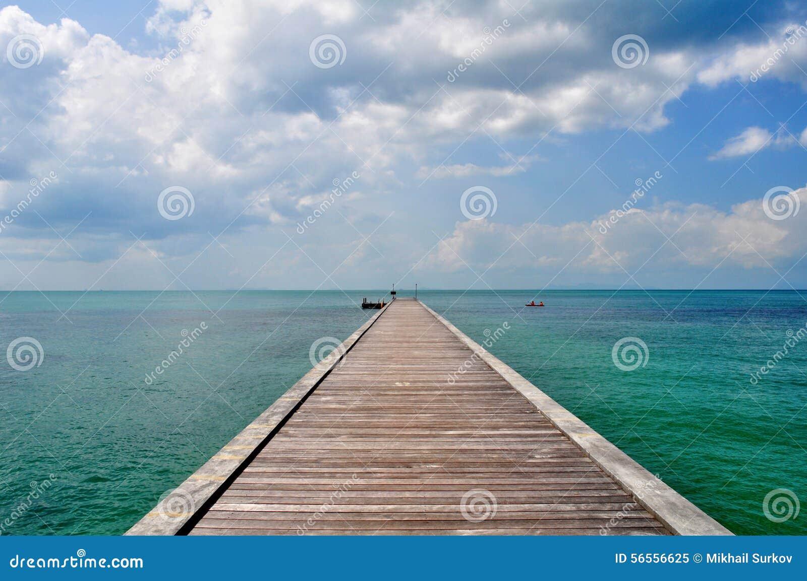 Download Αποβάθρα Koh Samui στοκ εικόνα. εικόνα από θάλασσα, ουρανός - 56556625