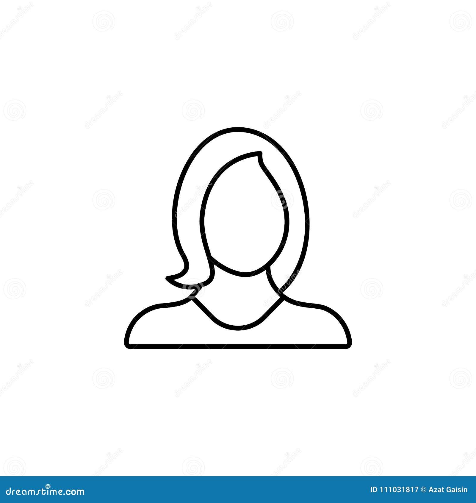 Απολογισμός, είδωλο, θηλυκό, κορίτσι, σχεδιάγραμμα, χρήστης, εικονίδιο γυναικών