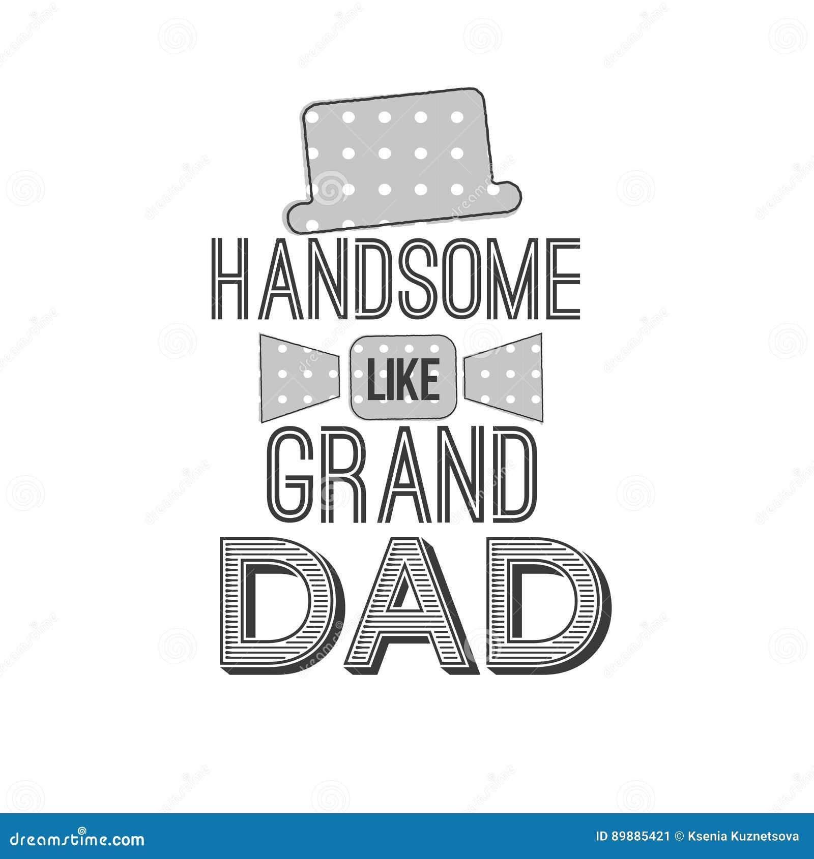 Απομονωμένα αποσπάσματα ημέρας παππούδων και γιαγιάδων στο άσπρο υπόβαθρο Όμορφος όπως το μεγάλο μπαμπά Ετικέτα συγχαρητηρίων gra