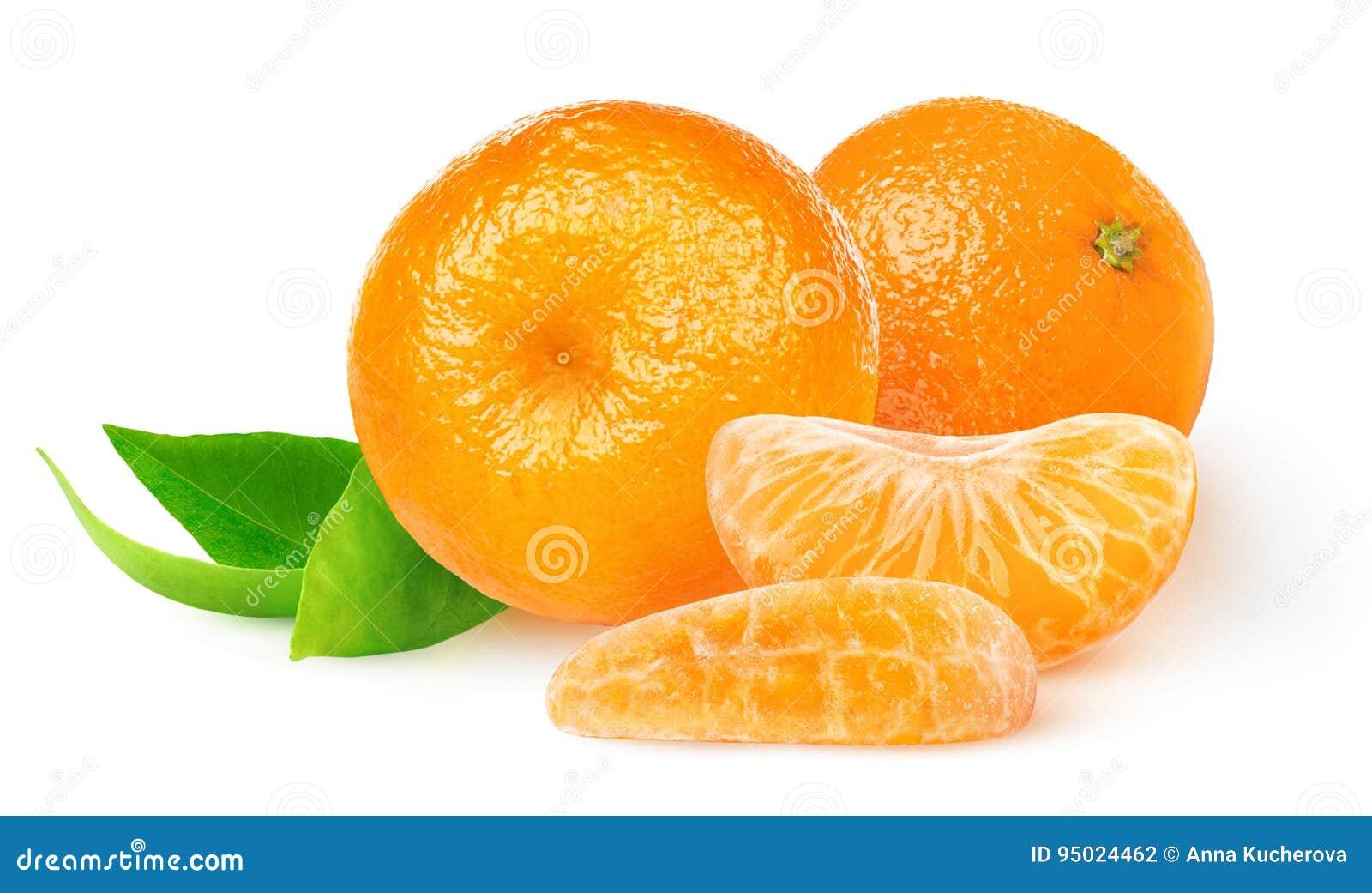 Απομονωμένα φρέσκα tangerines