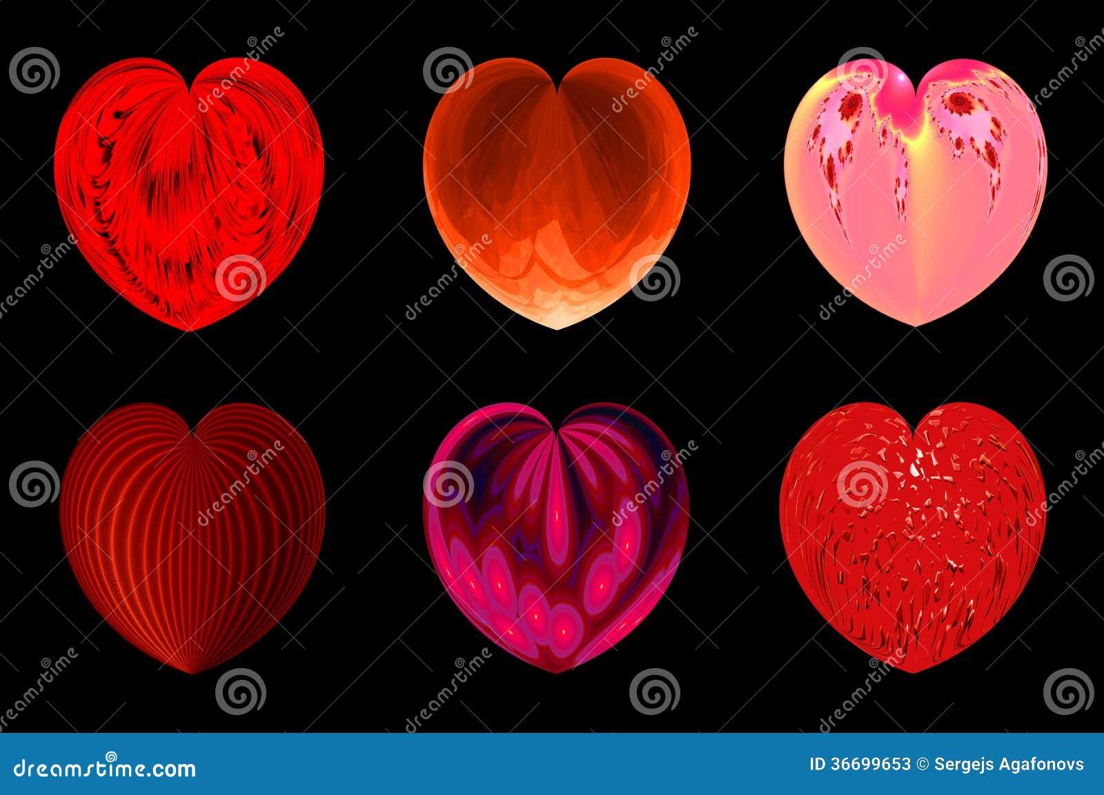 Απομονωμένες καρδιές για το σχέδιό σας. σύνολο 4.