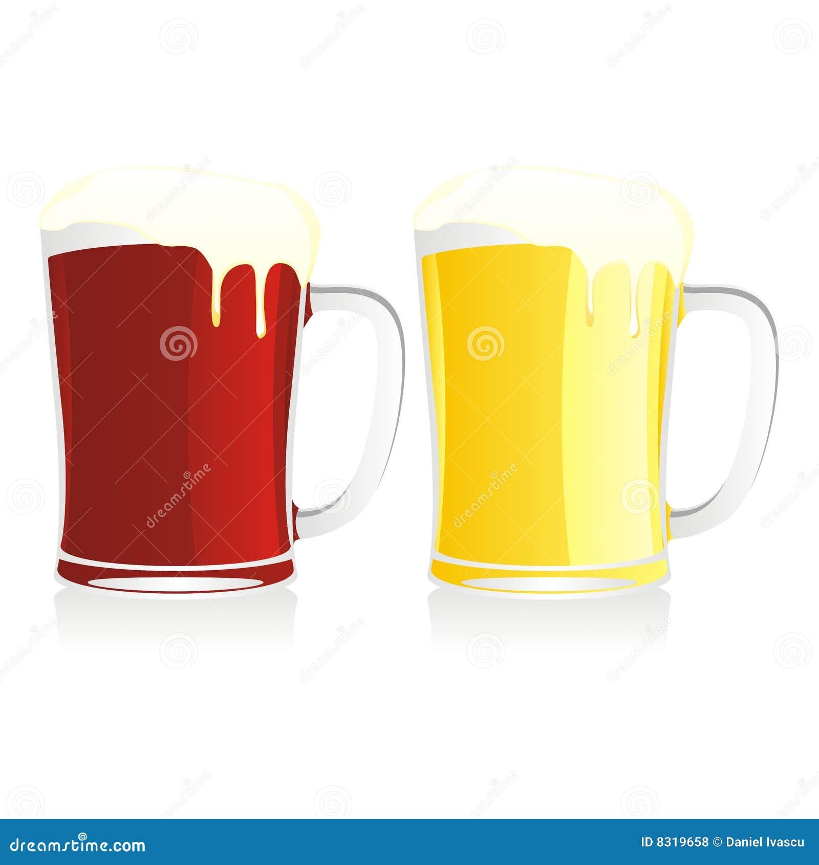 απομονωμένες μπύρα κούπες