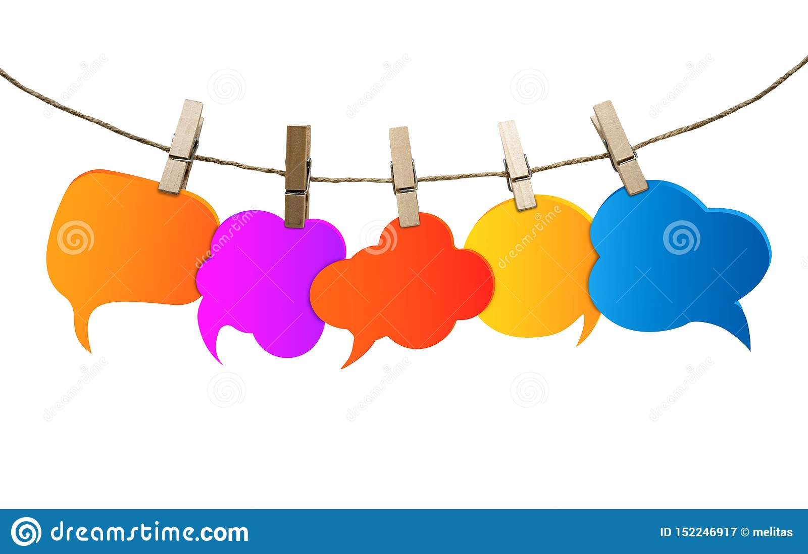 Απομονωμένες χρωματισμένες λεκτικές φυσαλίδες Κοινωνικό δίκτυο Κουτσομπολιό Ομιλία και επικοινωνία φλυαρίας Πληροφορίες Ομάδα κεν
