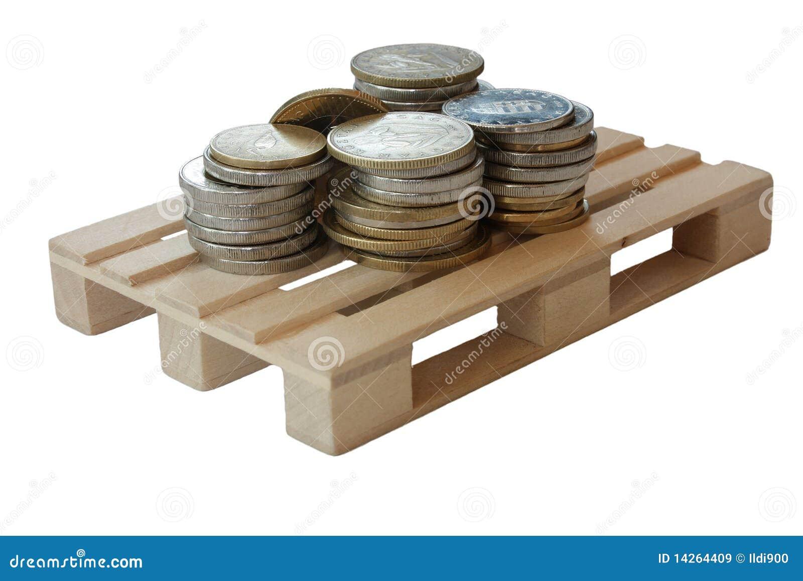 απομονωμένη παλέτα χρημάτων