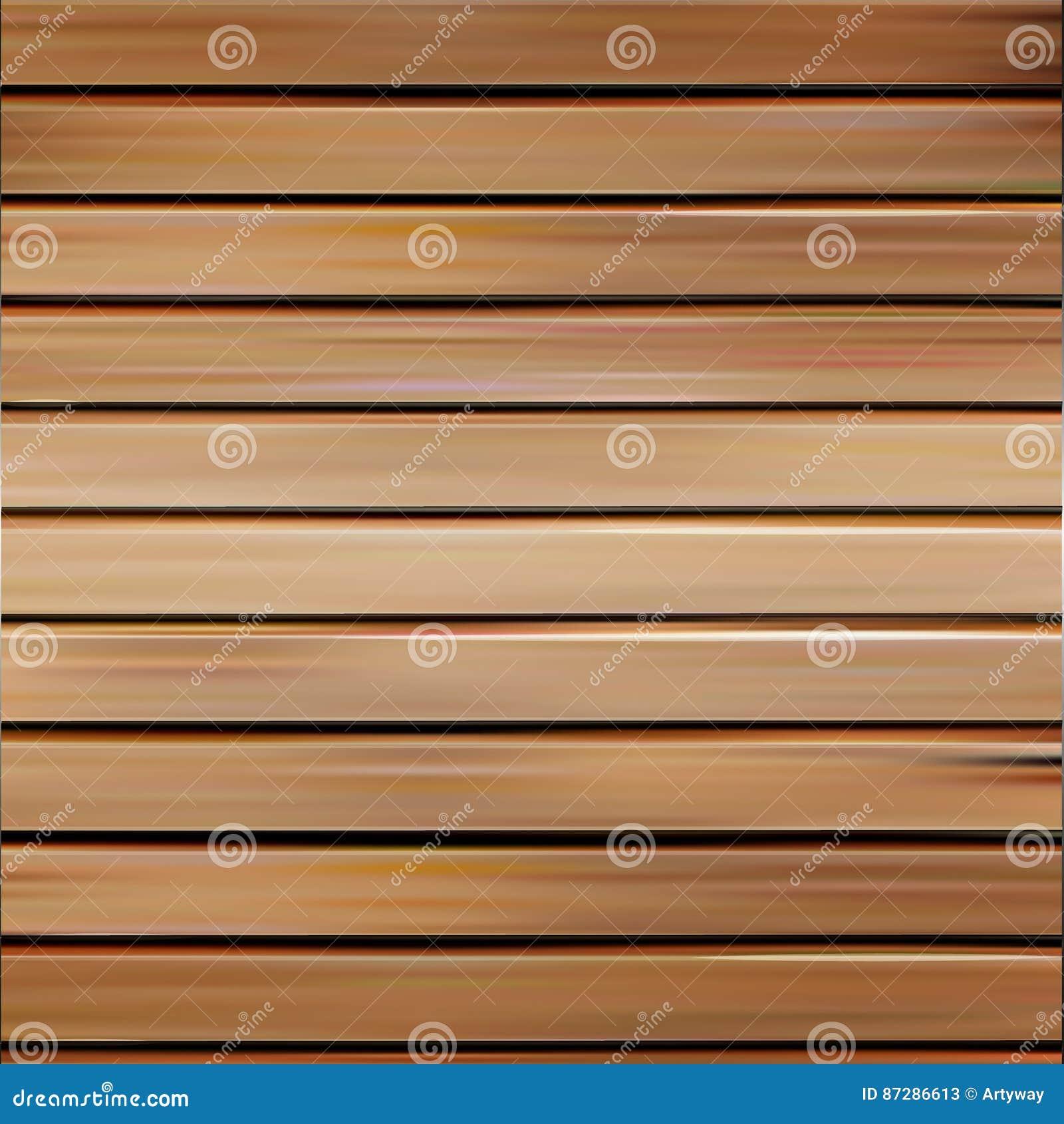 Απομονωμένη ρεαλιστική άνευ ραφής ξύλινη διανυσματική απεικόνιση σύστασης, οριζόντιο υπόβαθρο πινάκων
