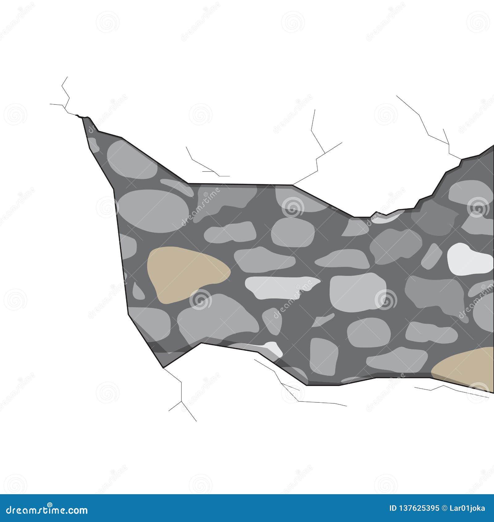 Απομονωμένη ρωγμή τοίχων πετρών
