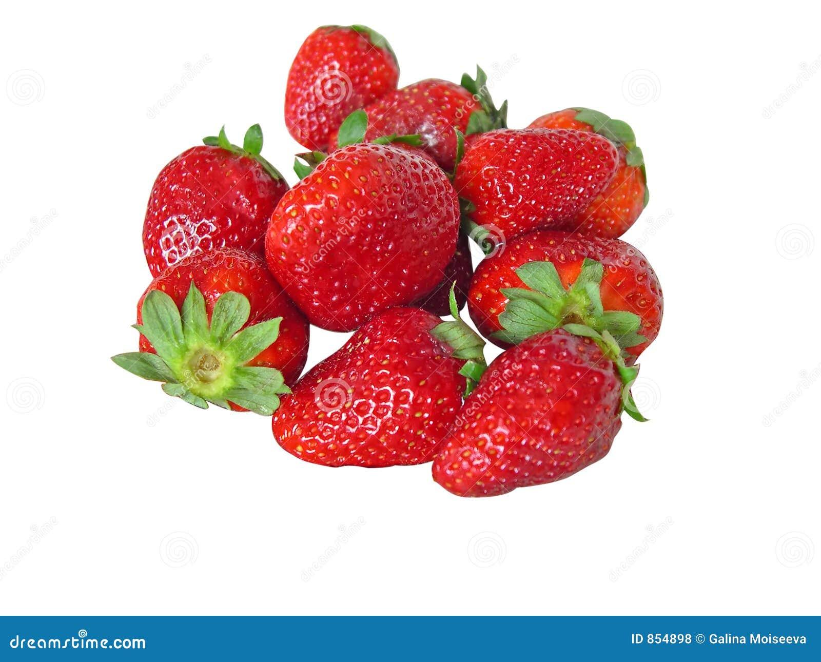 απομονωμένη φράουλα