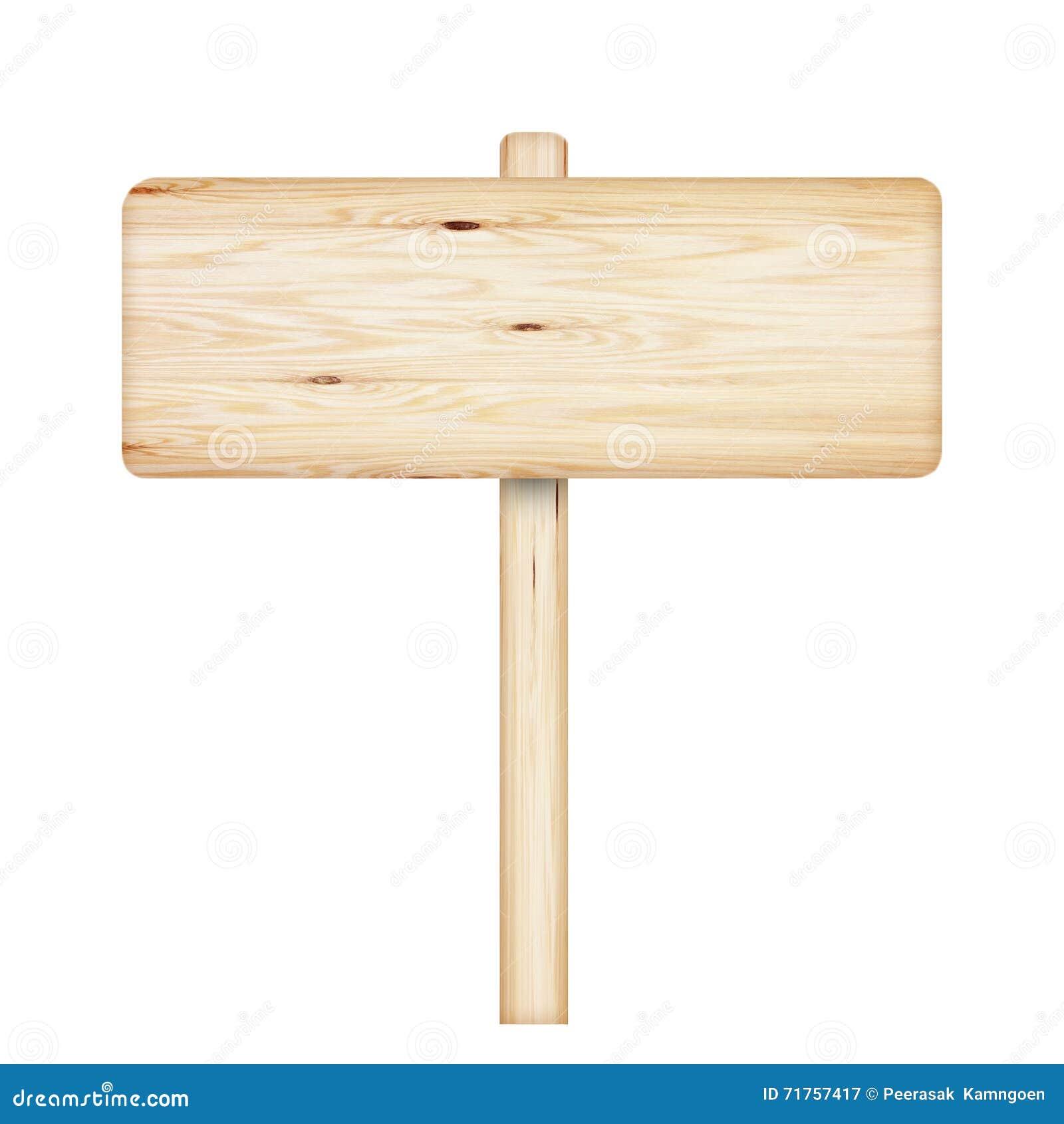 απομονωμένος άσπρος ξύλινος σημαδιών