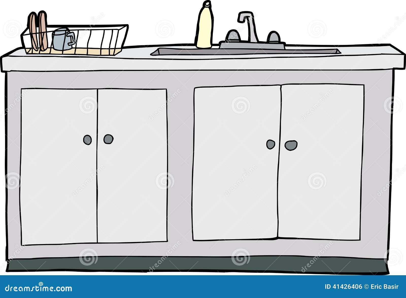 Απομονωμένος νεροχύτης κουζινών