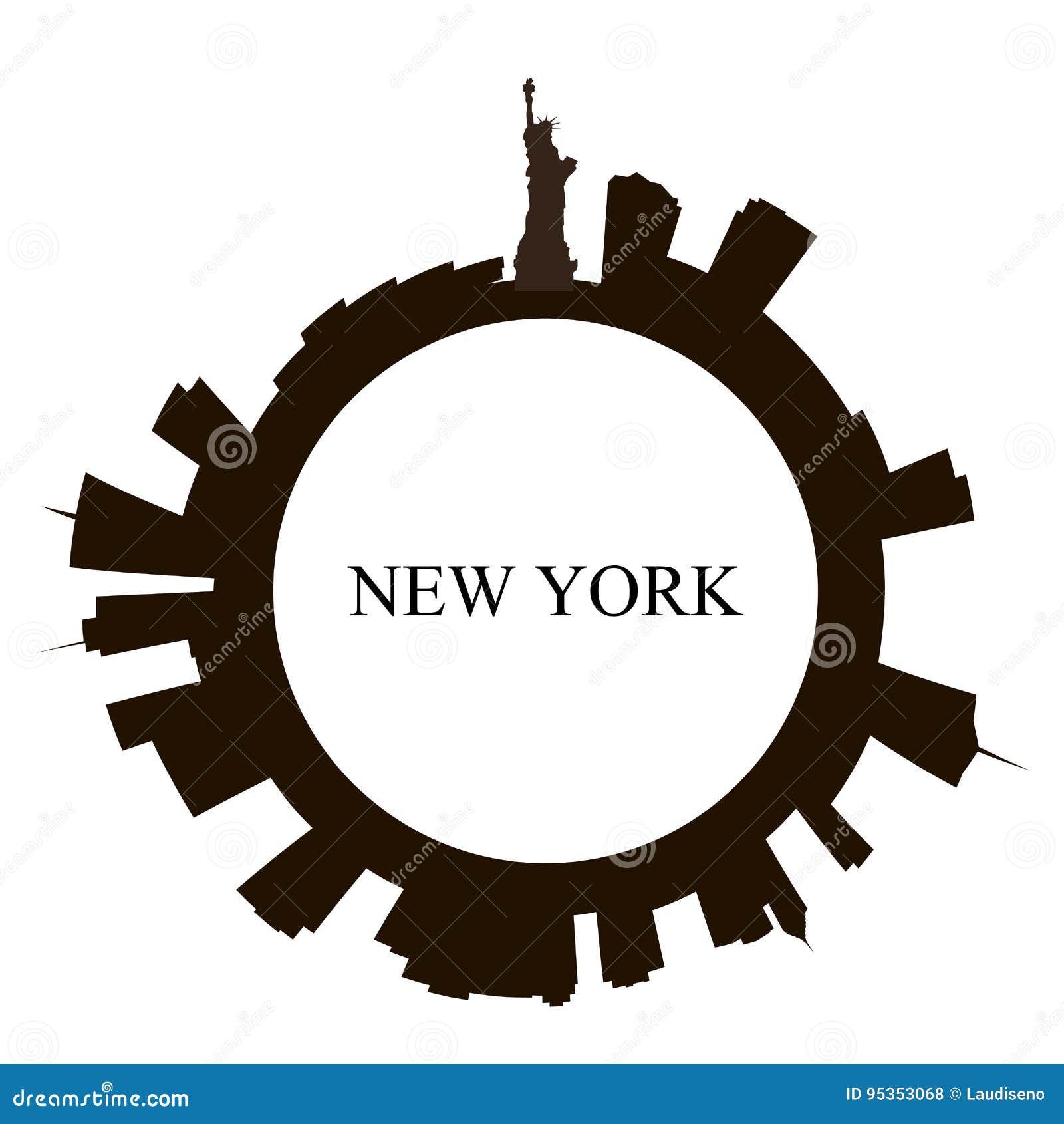 Απομονωμένος ορίζοντας πόλεων της Νέας Υόρκης
