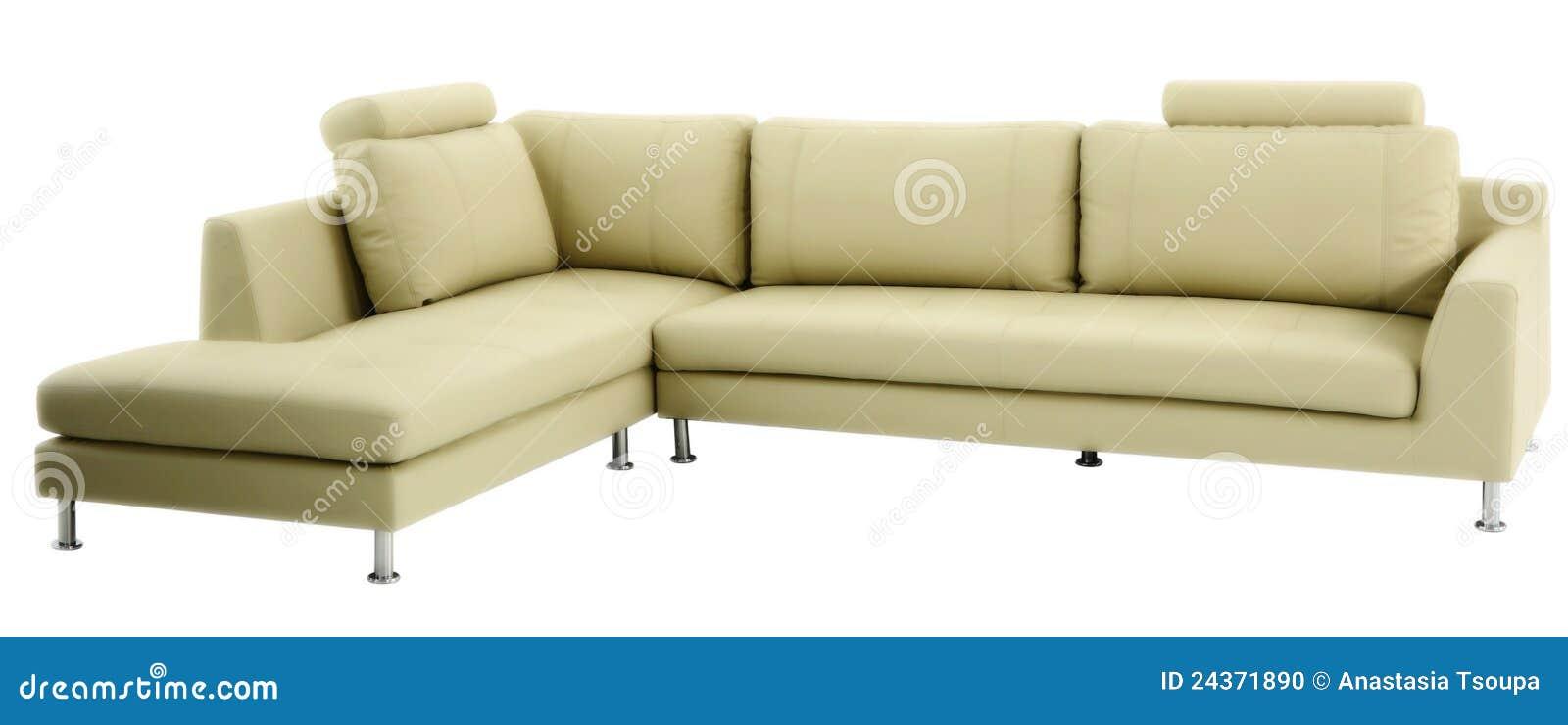 Απομονωμένος σύγχρονος καναπές