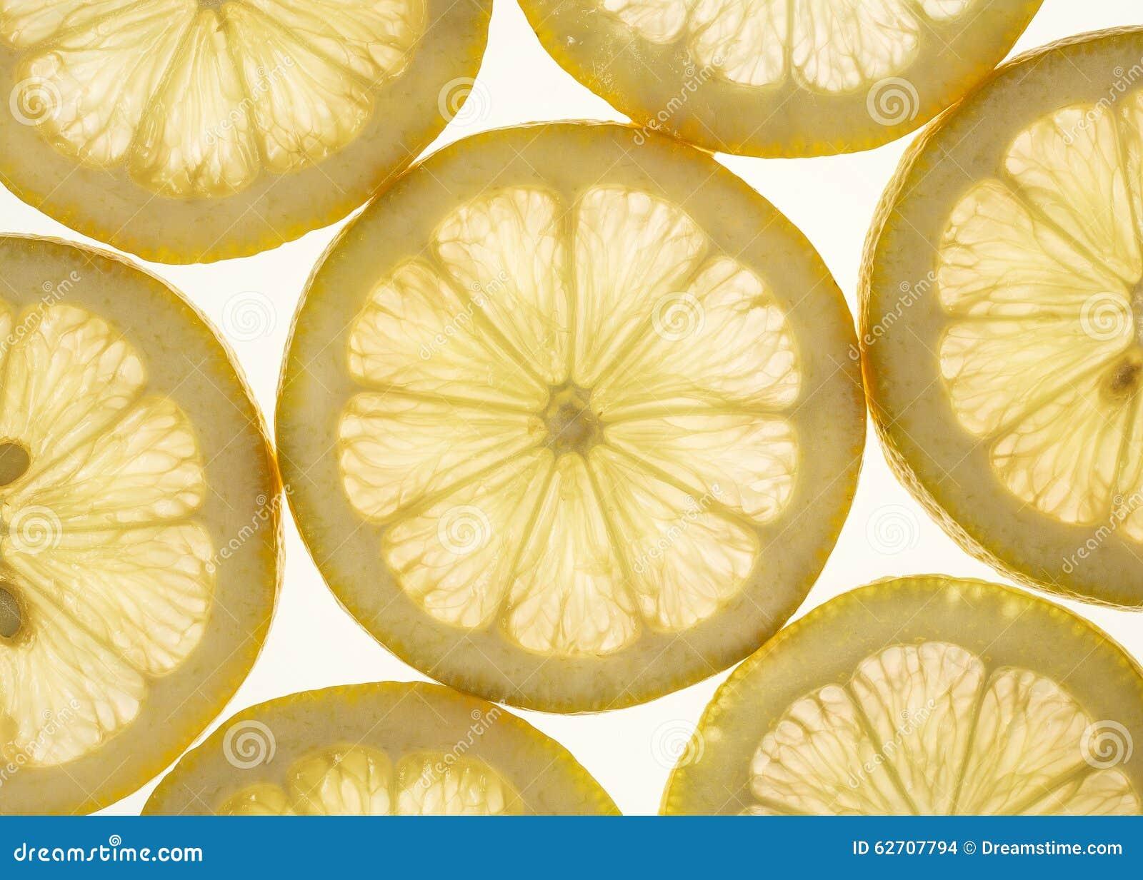 απομονωμένο ανασκόπηση λευκό φετών λεμονιών
