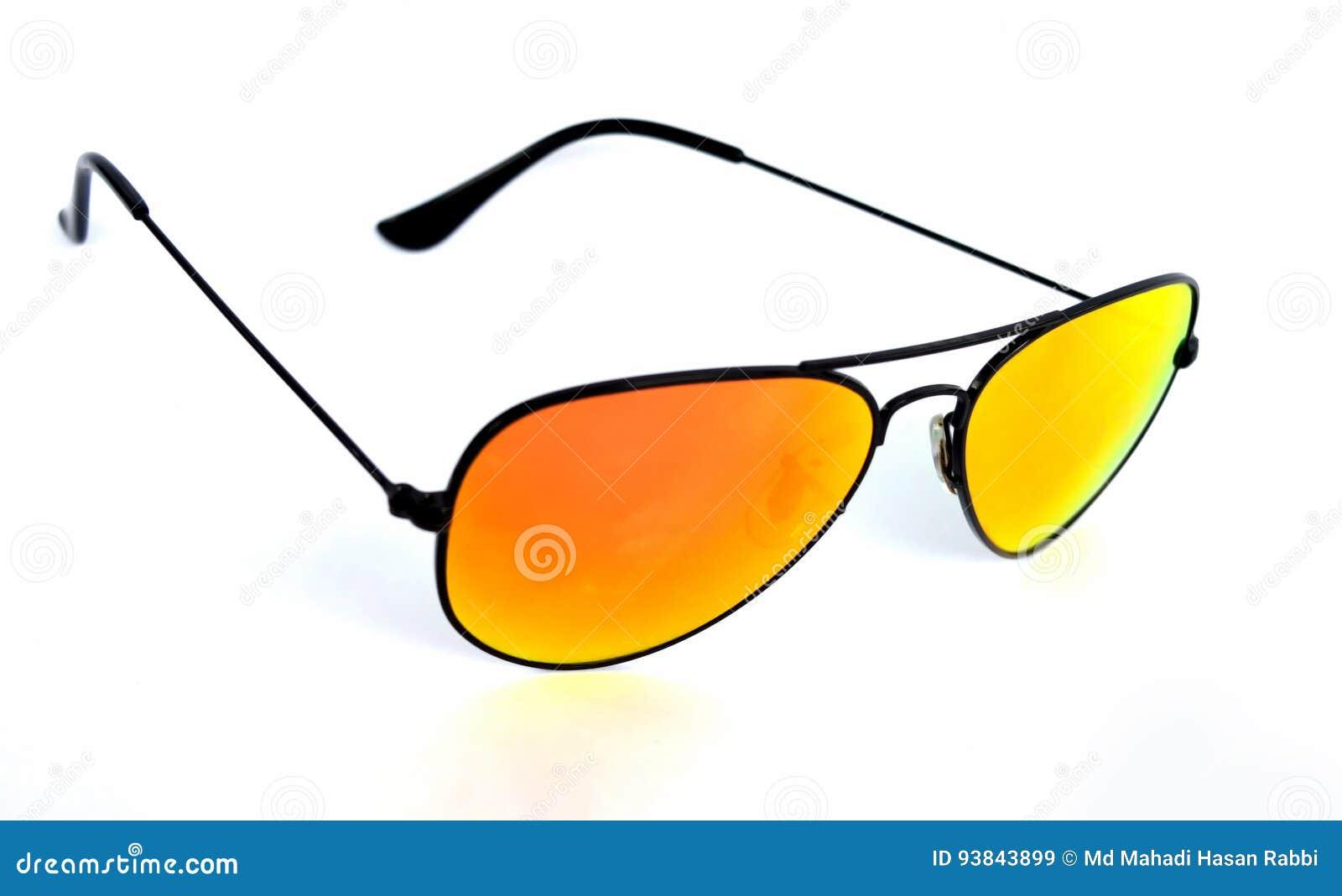 απομονωμένο γυαλιά λευκό ήλιων