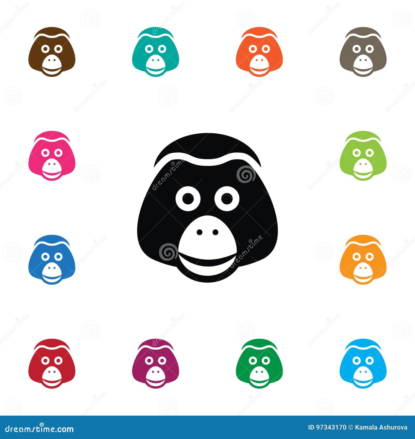 Απομονωμένο εικονίδιο πιθήκων Το διανυσματικό στοιχείο πίθηκων μπορεί να χρησιμοποιηθεί για τον πίθηκο, πίθηκος, Baboon έννοια σχ