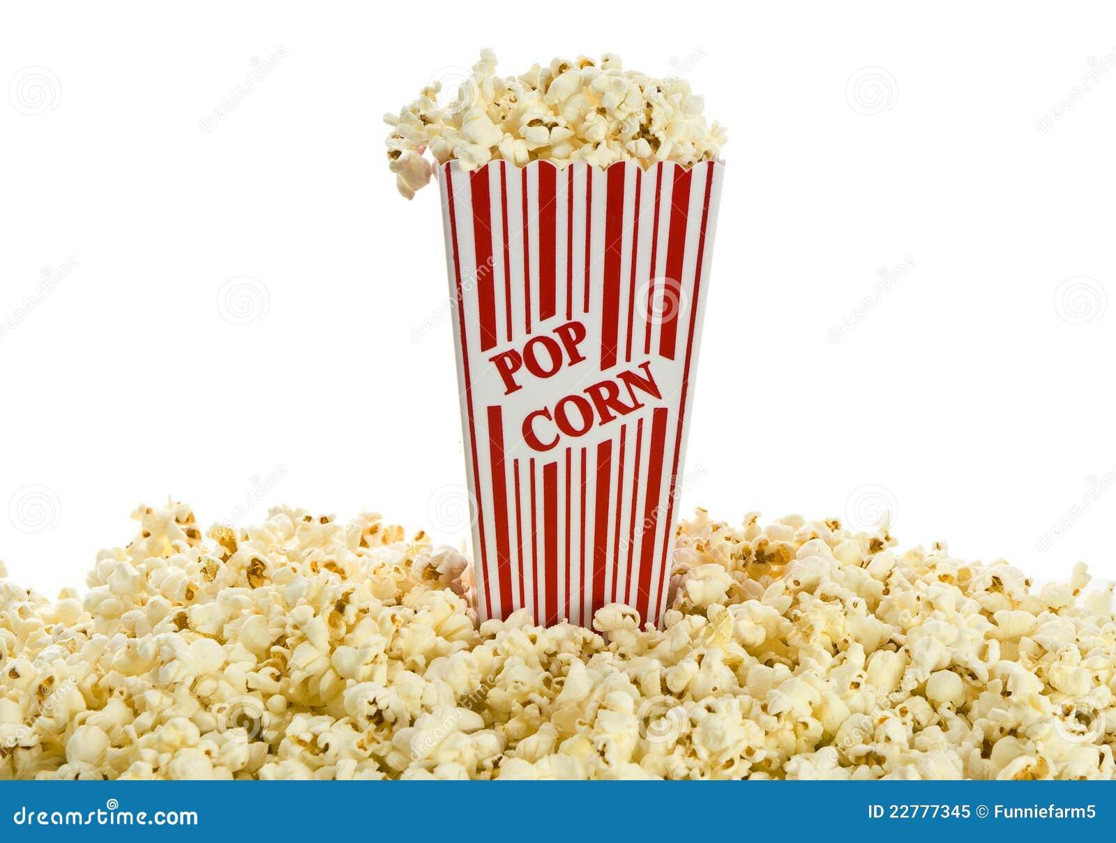 απομονωμένο κιβώτιο popcorn κόκκινο λευκό