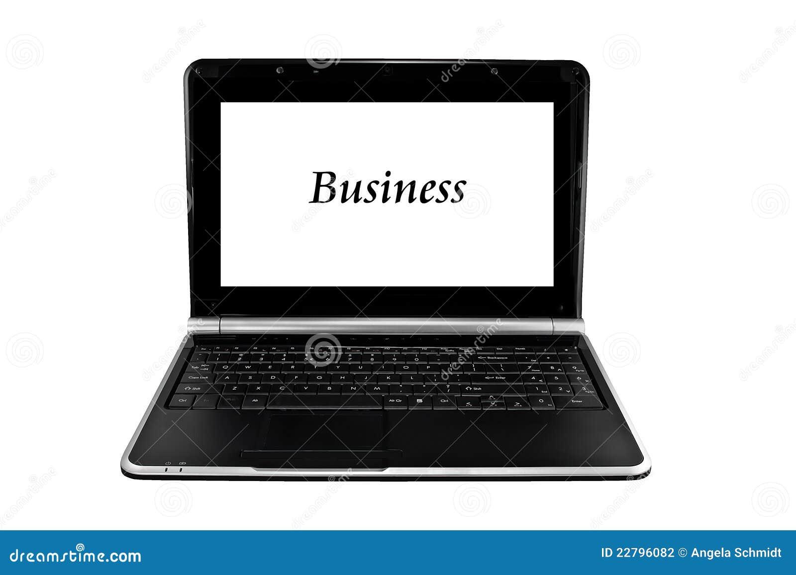 απομονωμένο λευκό lap-top επιχειρησιακών υπολογιστών
