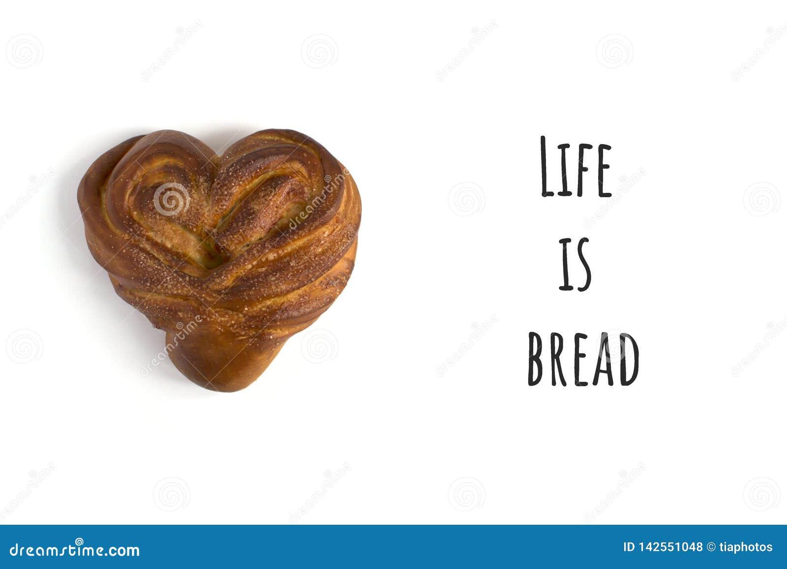 Απομονωμένο ψωμί με το κείμενο