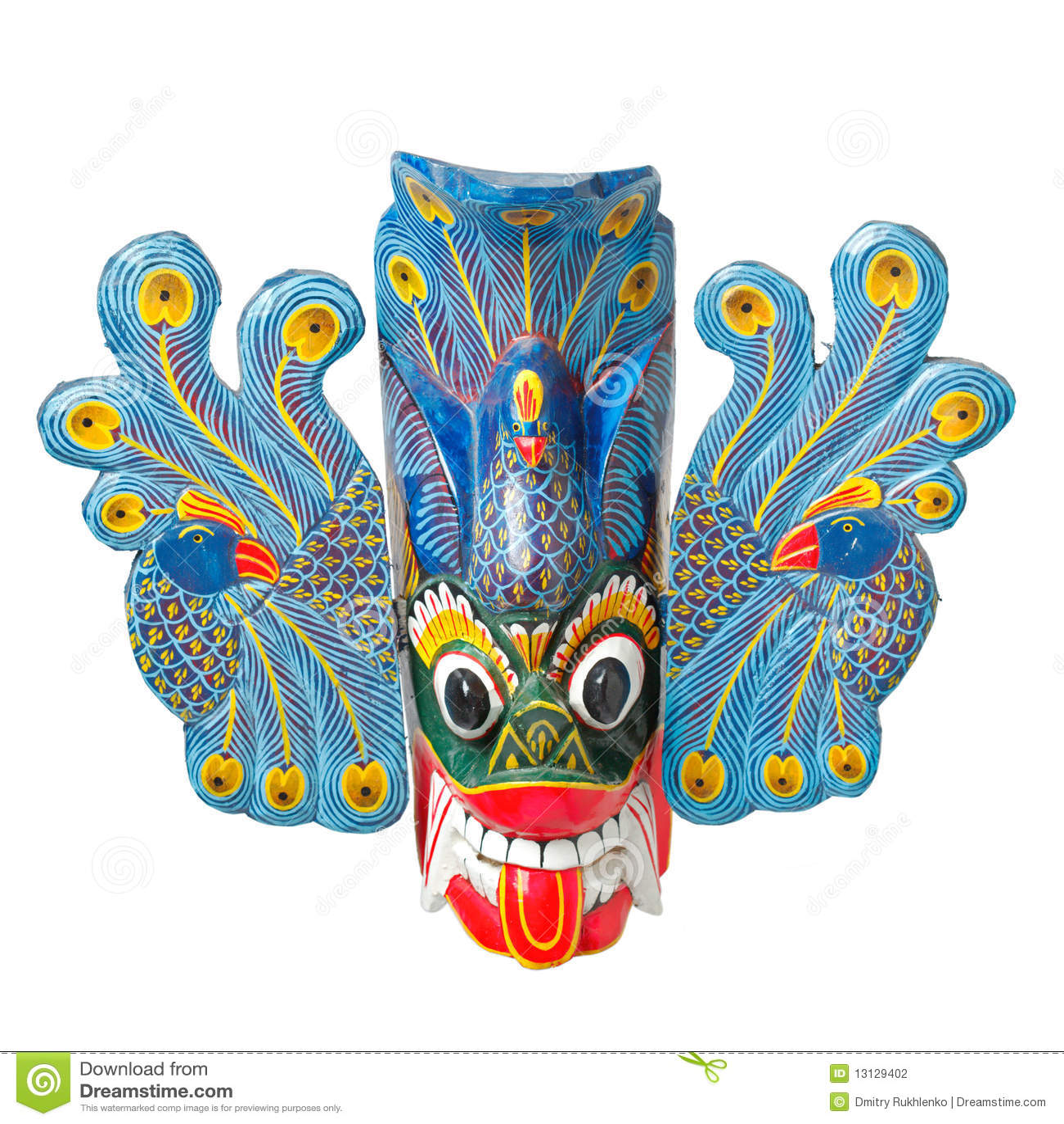 απομονωμένο lankan traditinal sri μασκών