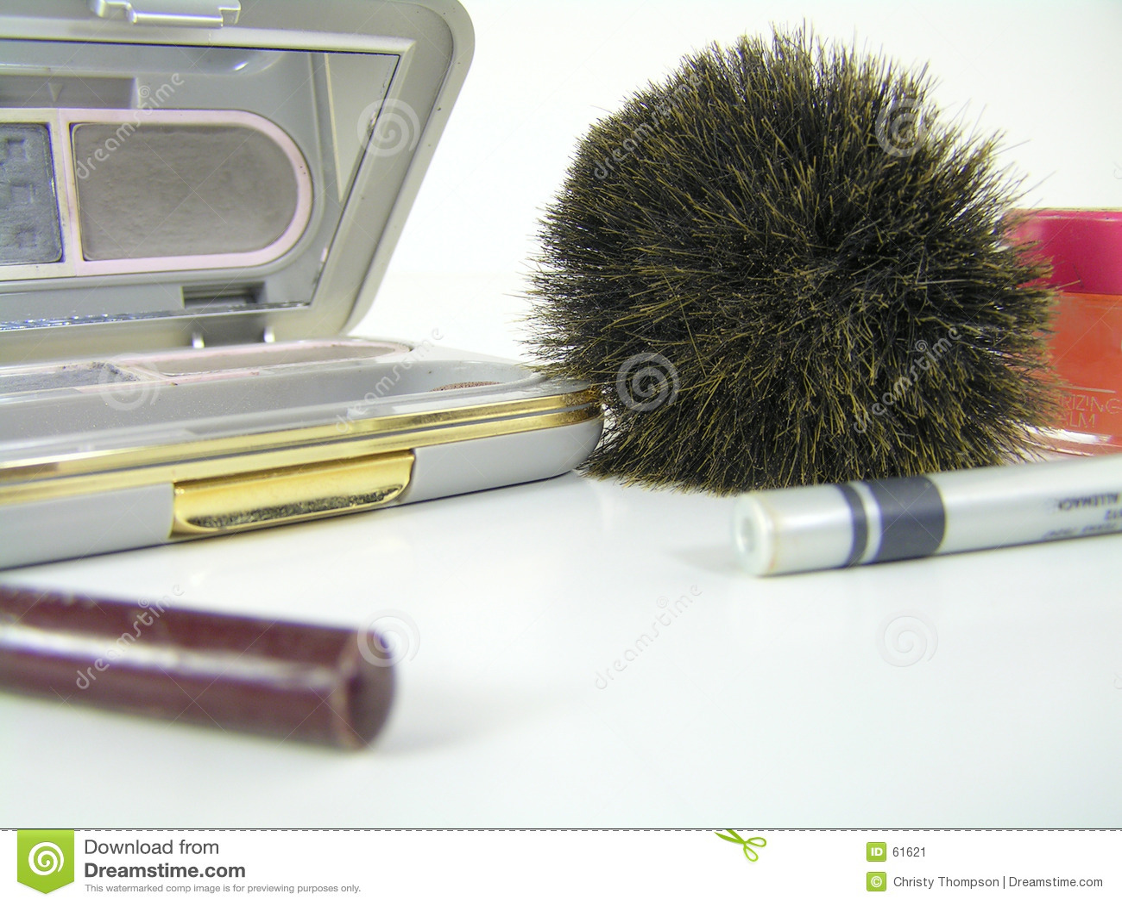 Download απομονωμένο makeup λευκό στοκ εικόνα. εικόνα από καλλυντικό - 61621