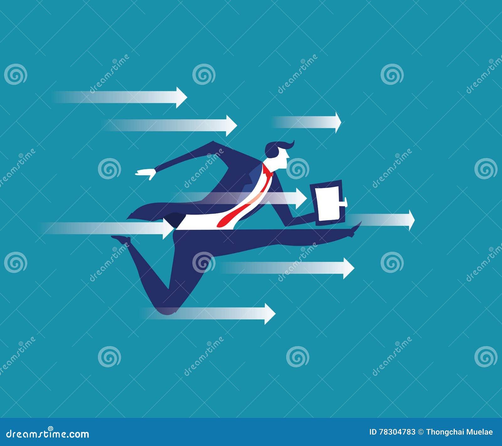 αποσυνθέσεων Απεικόνιση επιχειρησιακής έννοιας Διευθυντής που σπάζει το θόριο