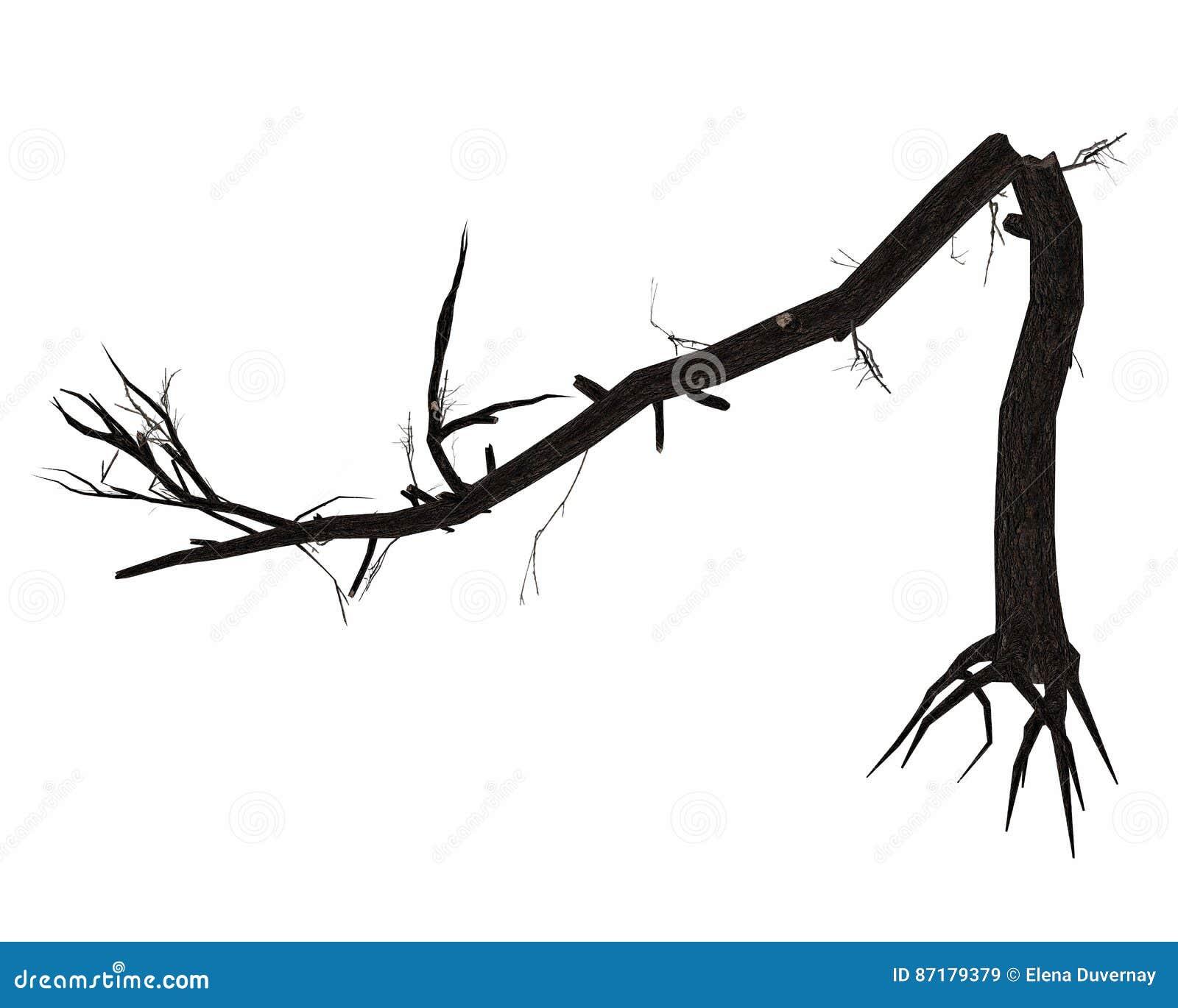 Απολύτως σπασμένος κορμός δέντρων - τρισδιάστατος δώστε