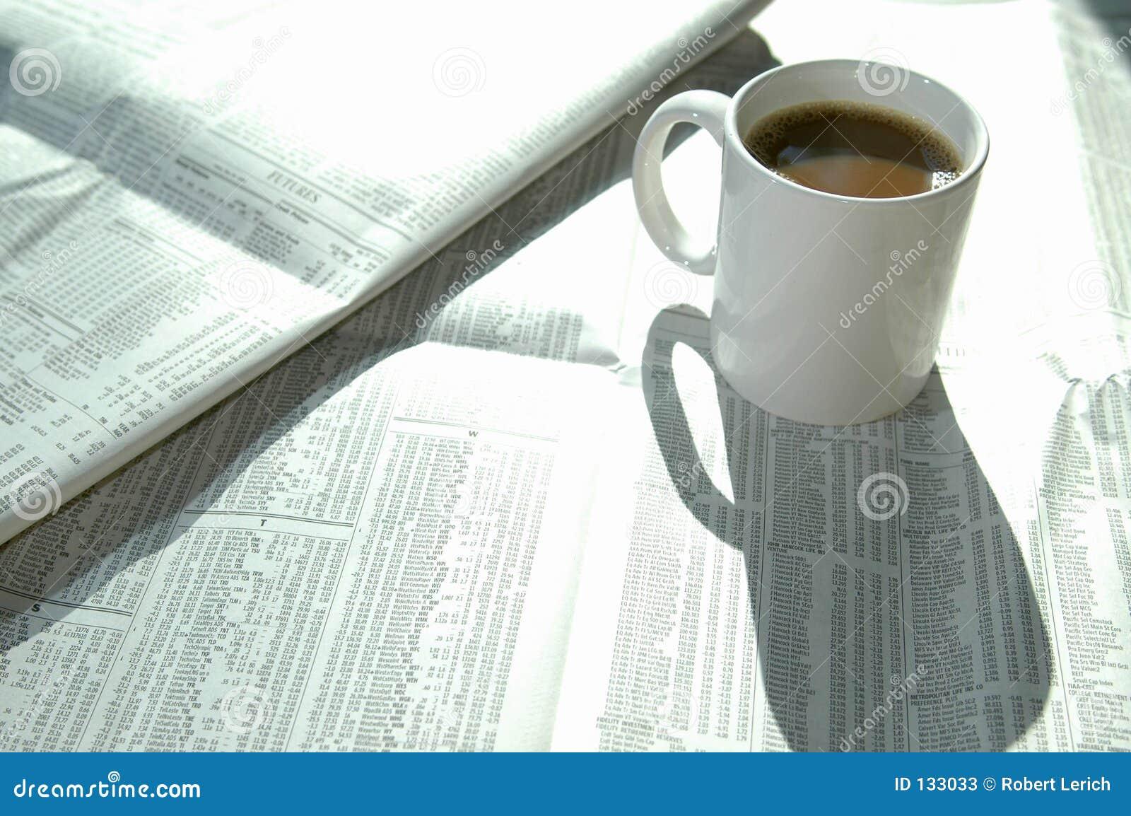απόθεμα καφέ 2 διαγραμμάτων