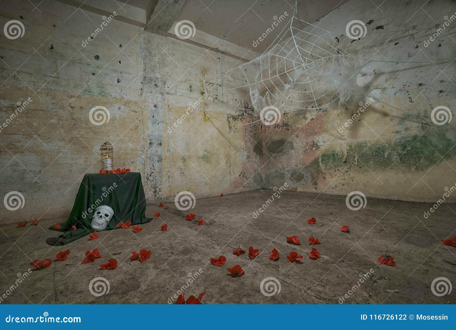 Απόκοσμος ανατριχιαστικός Ιστός Helloween αραχνών