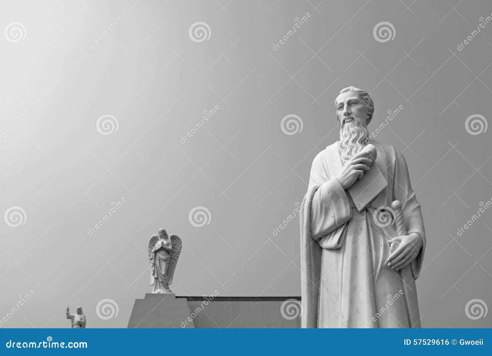 Απόστολος Αγίου Jude Χριστού που αντέχει τον κύλινδρο και το ξίφος
