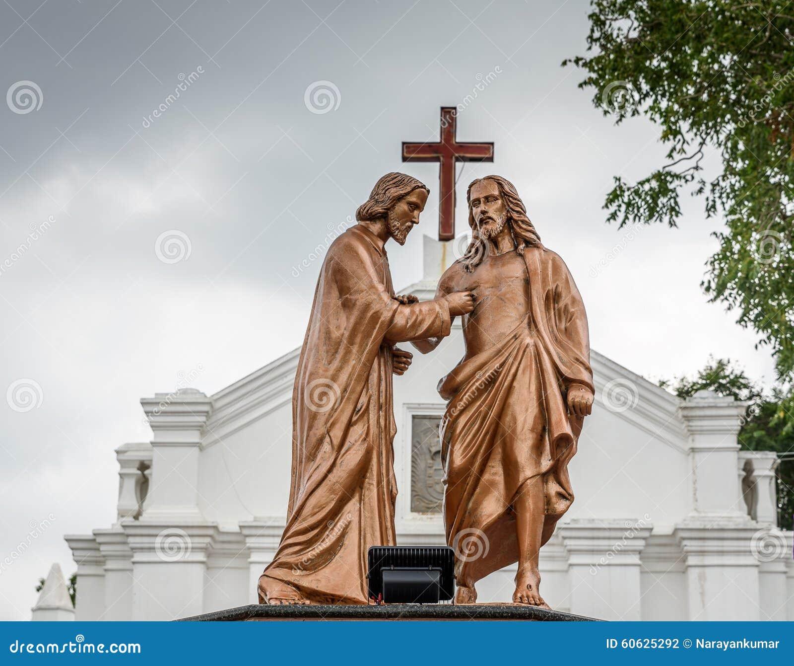 Απόστολος που αμφιβάλλουν το Thomas και Ιησούς Χριστός