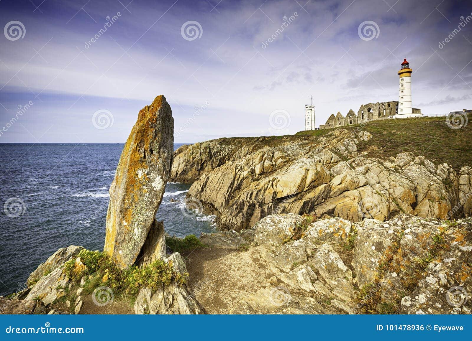Απότομοι βράχοι και ορόσημα Pointe de Saint-Mathieu