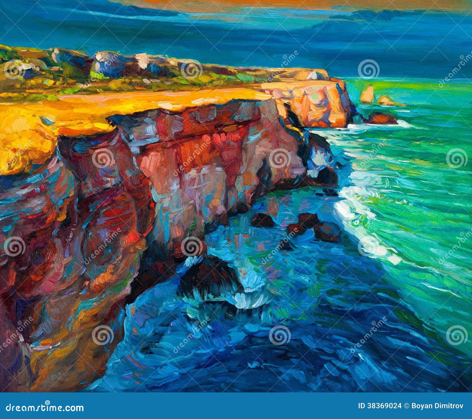 Απότομοι βράχοι και ωκεανός