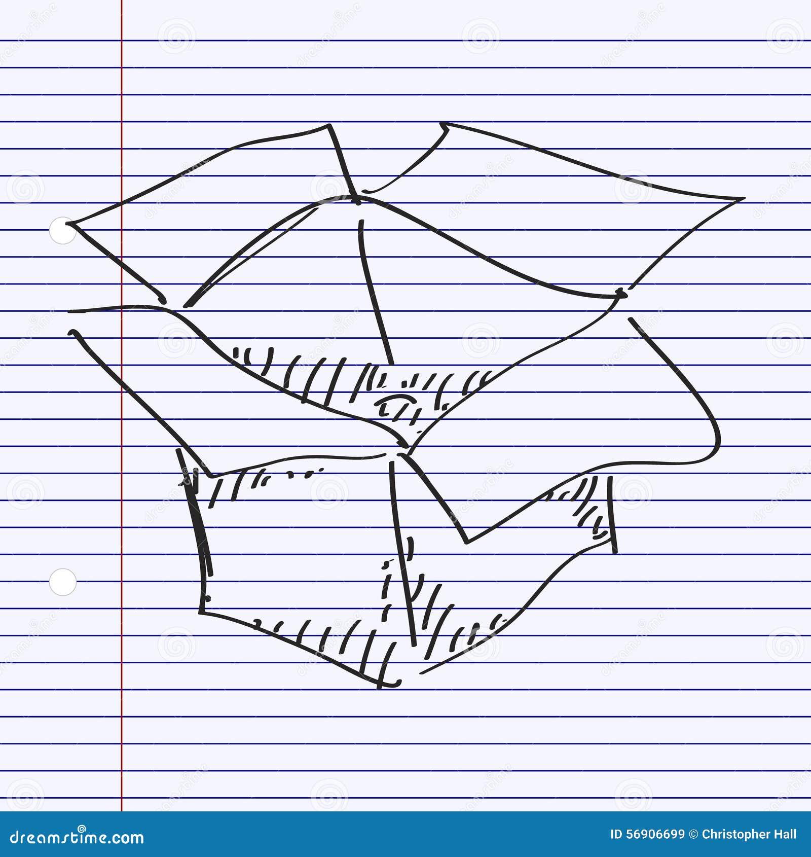 Απλό doodle ενός κιβωτίου