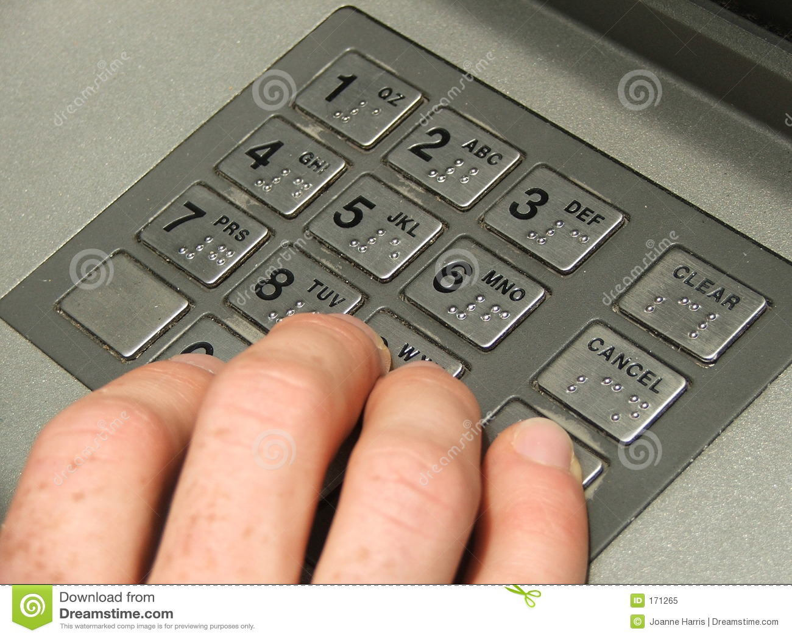 αριθμητικό πληκτρολόγιο του ATM