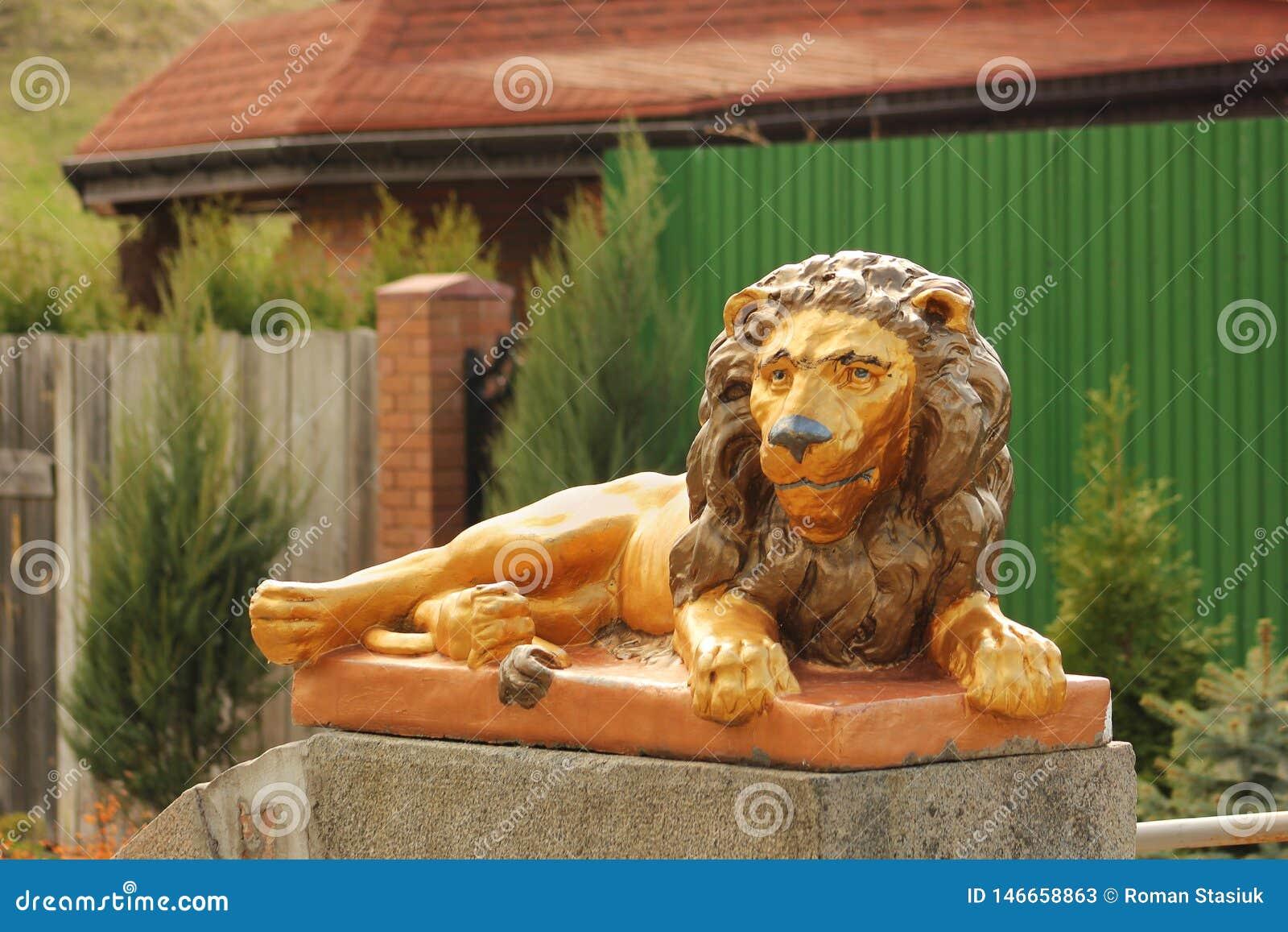 Αριθμοί κήπων Ένα λιοντάρι Αριθμός υπό μορφή ζώων