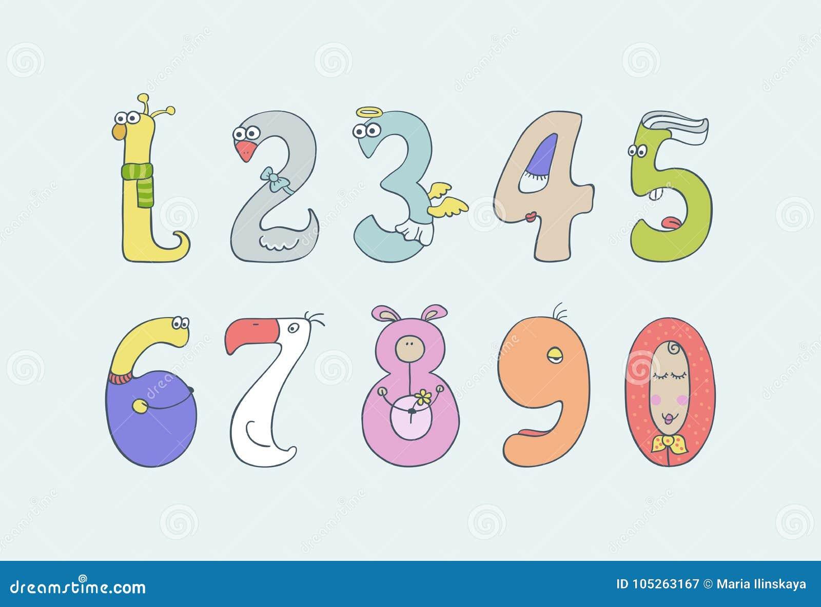 Αριθμοί χαριτωμένων και παιδιών ` s διασκέδασης