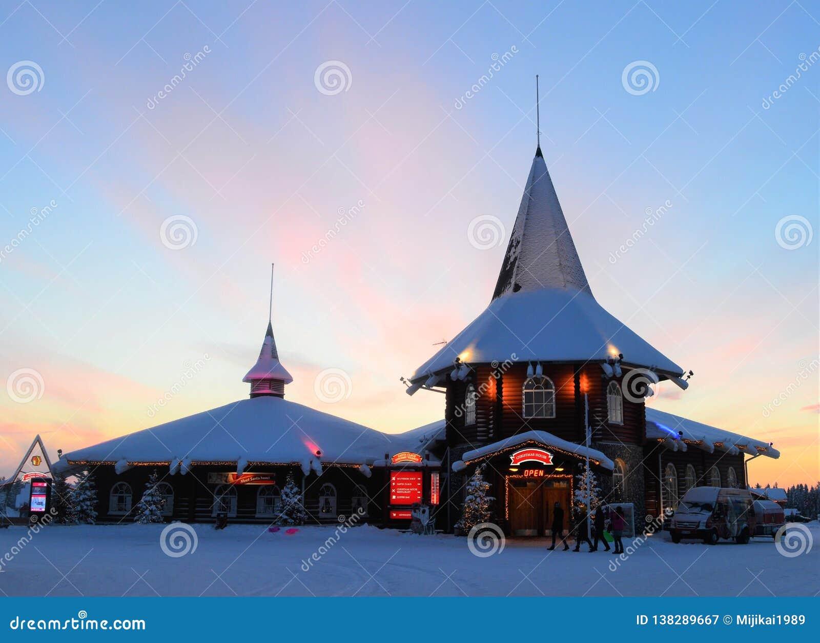 Αρκτικός κύκλος Napapiiri, Ροβανιέμι Φινλανδία Χωριό Άγιου Βασίλη
