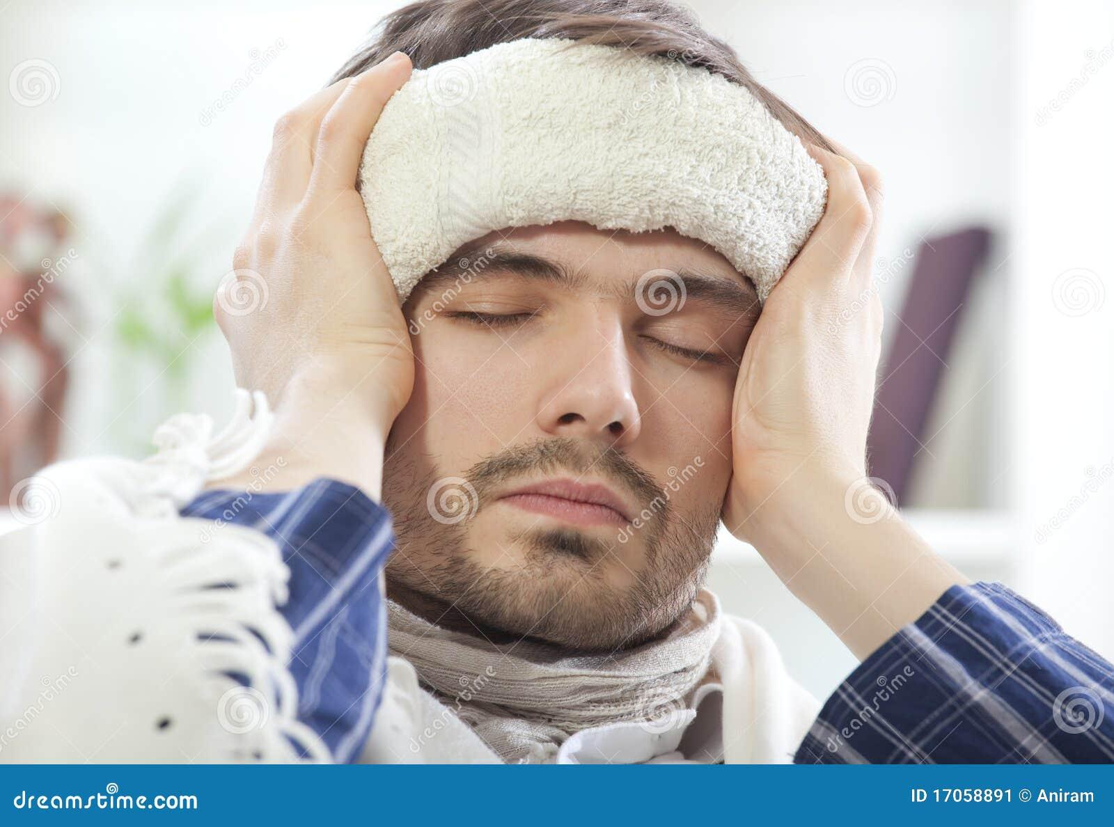 αρσενική άρρωστη πετσέτα &upsilon