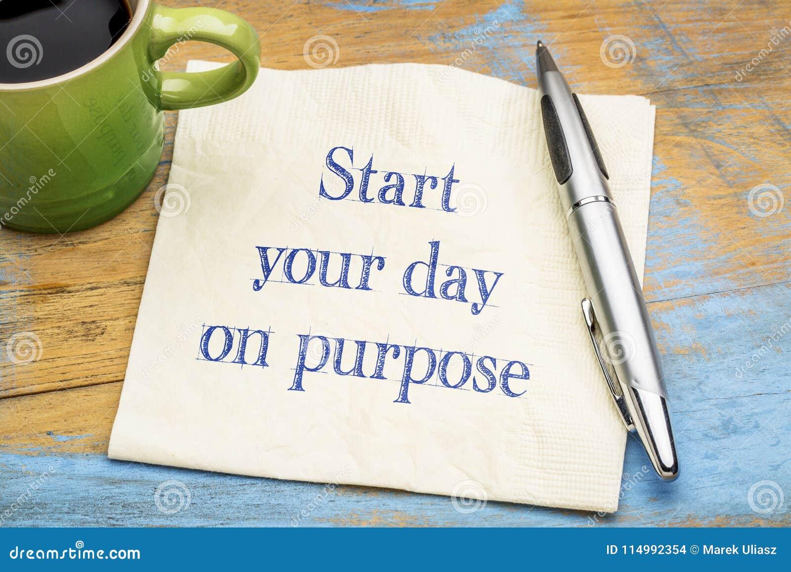 Αρχίστε την ημέρα σας επίτηδες