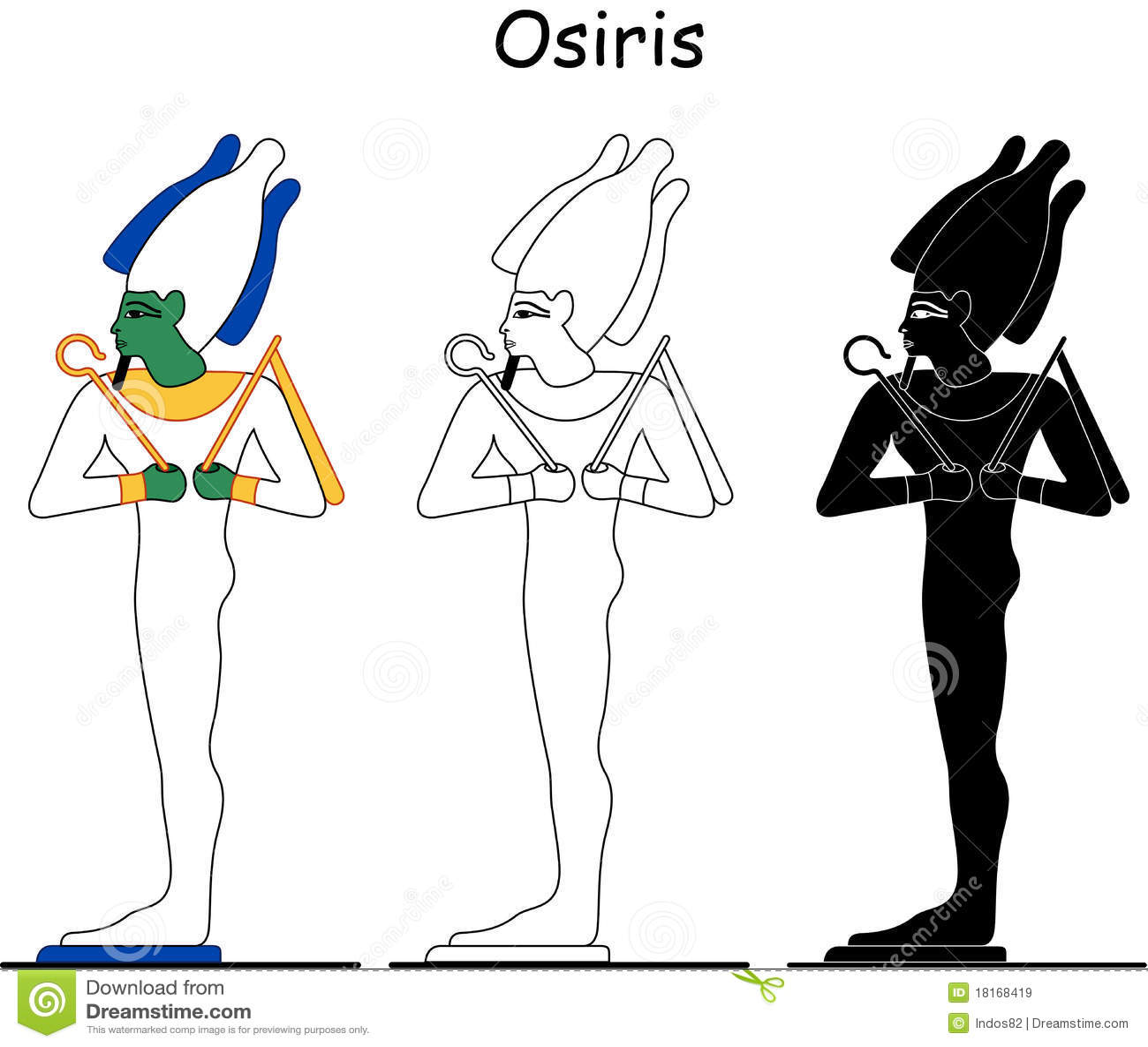 αρχαία αιγυπτιακά osiris Θεών
